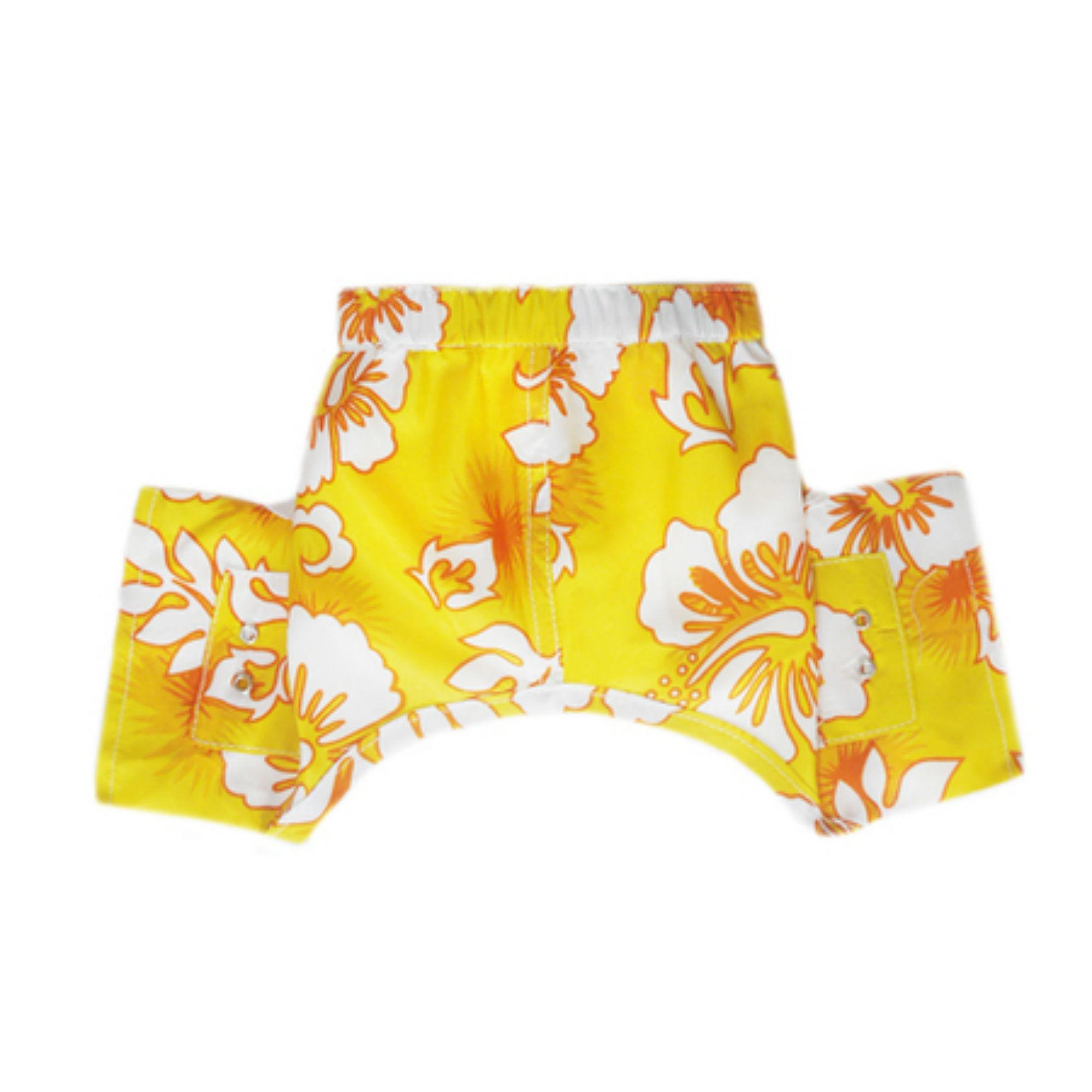 Belize Dog Swim Trunks - Yellow