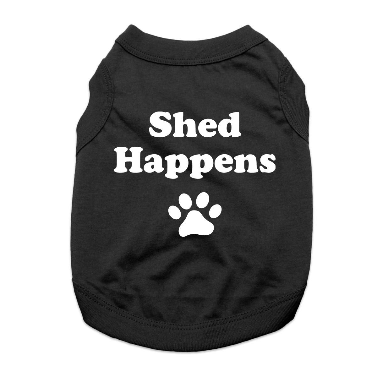 Shed Happens Dog Shirt - Black
