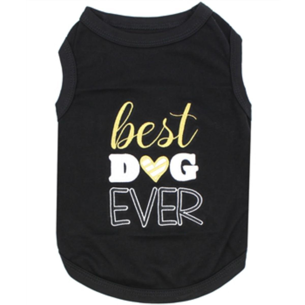 Best Dog Ever Dog Tank by Parisian Pet - Black