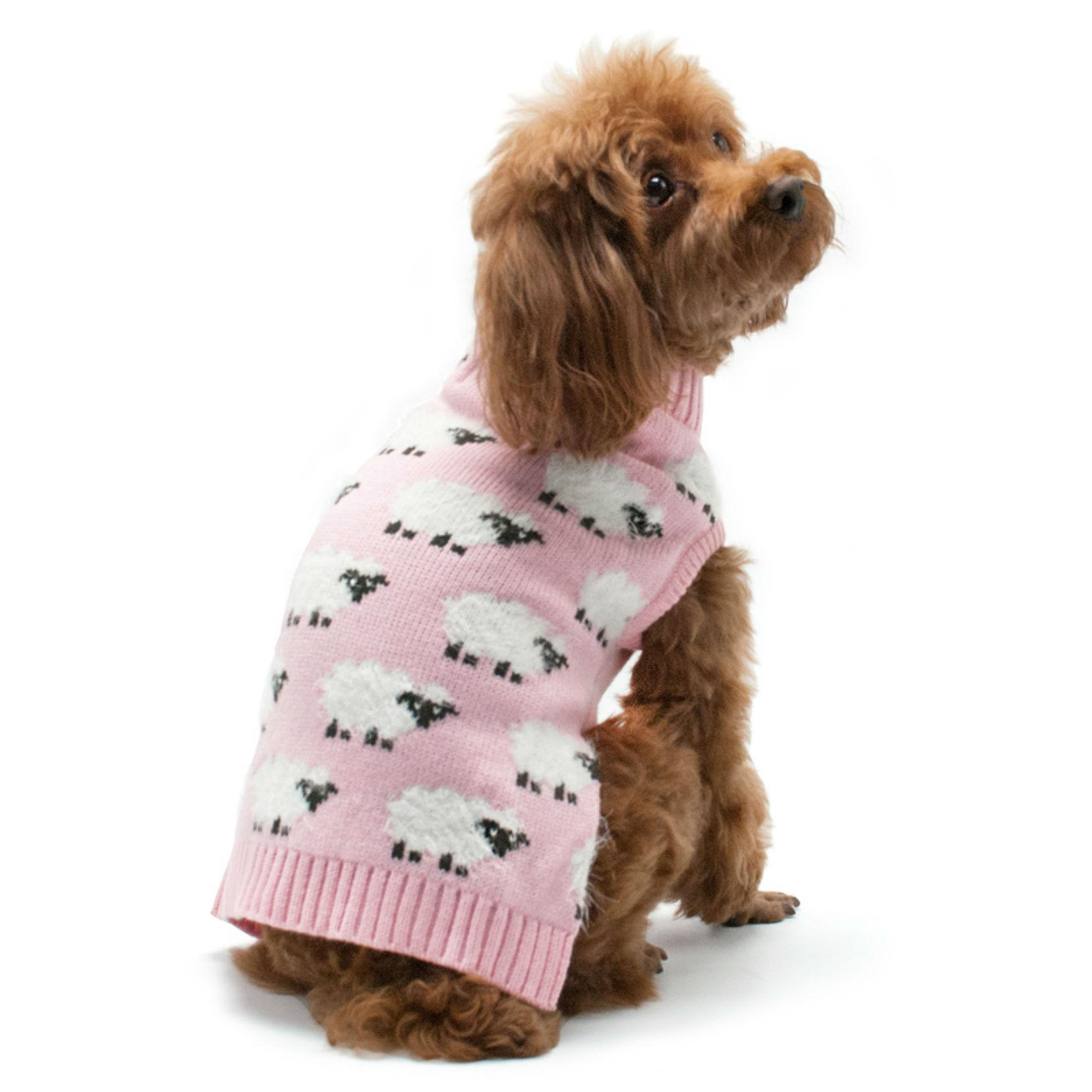 Sheep Dog Sweater by Dogo - Pink