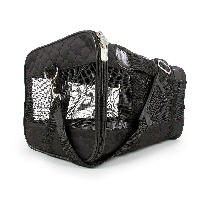 Sherpa Travel Original Deluxe Pet Carrier - Black Lattice