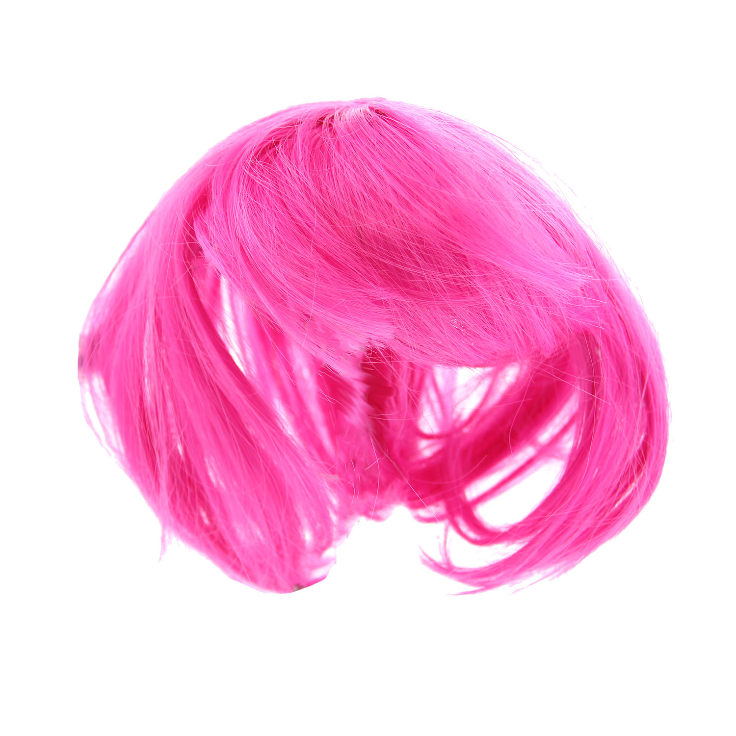 Short Bob Wig Dog Costume - Hot Pink