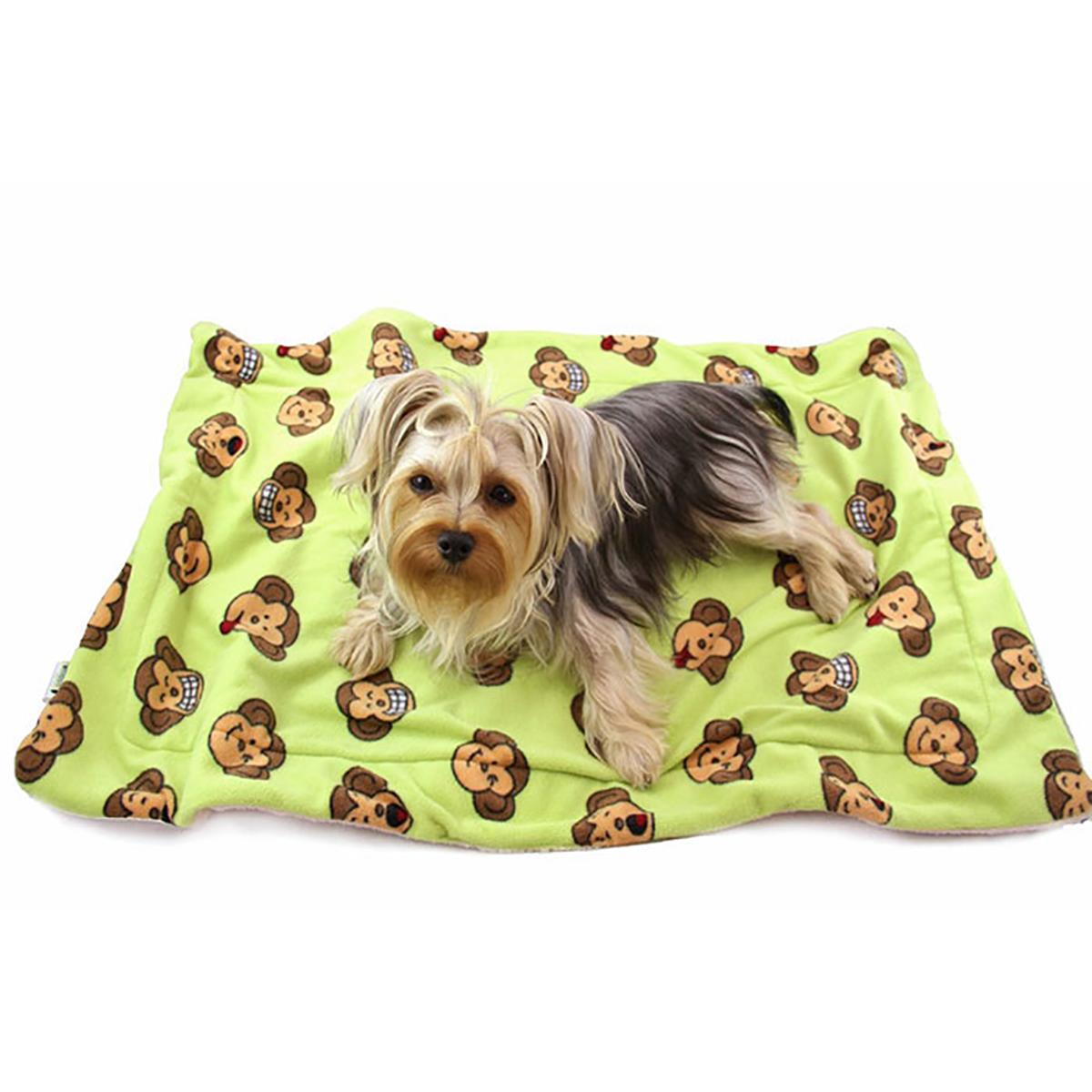 Silly Monkey Ultra-Plush Dog Blanket by Klippo - Lime