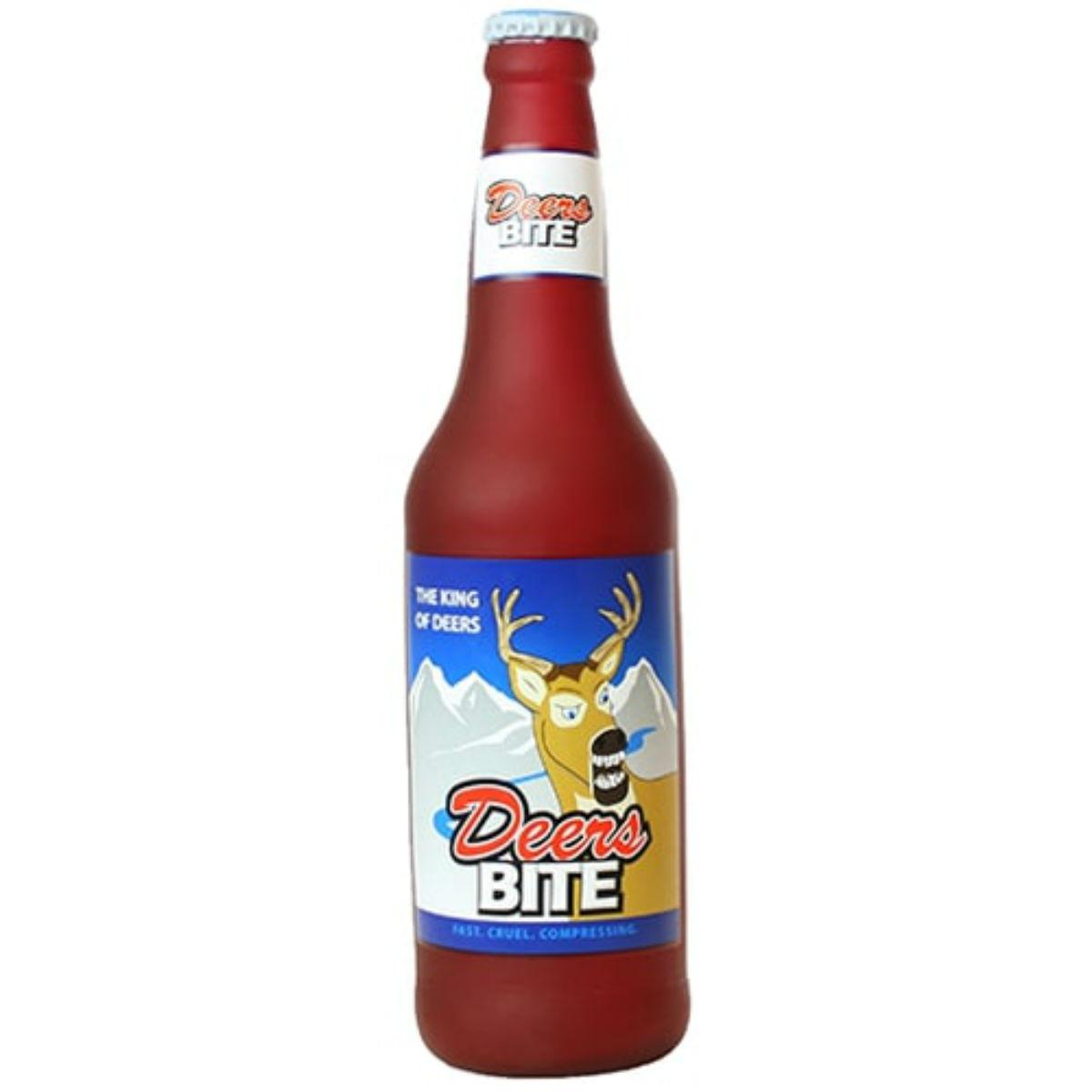 Silly Squeakers Beer Bottle Dog Toy - Deers Bite
