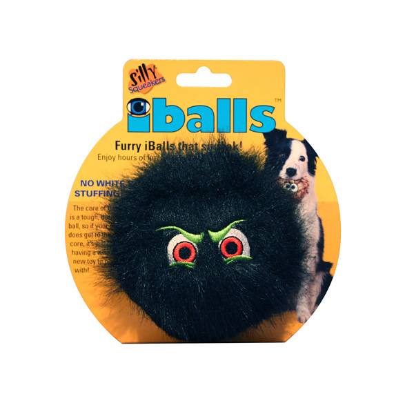 Silly Squeakers Dog Toys - iBalls Black