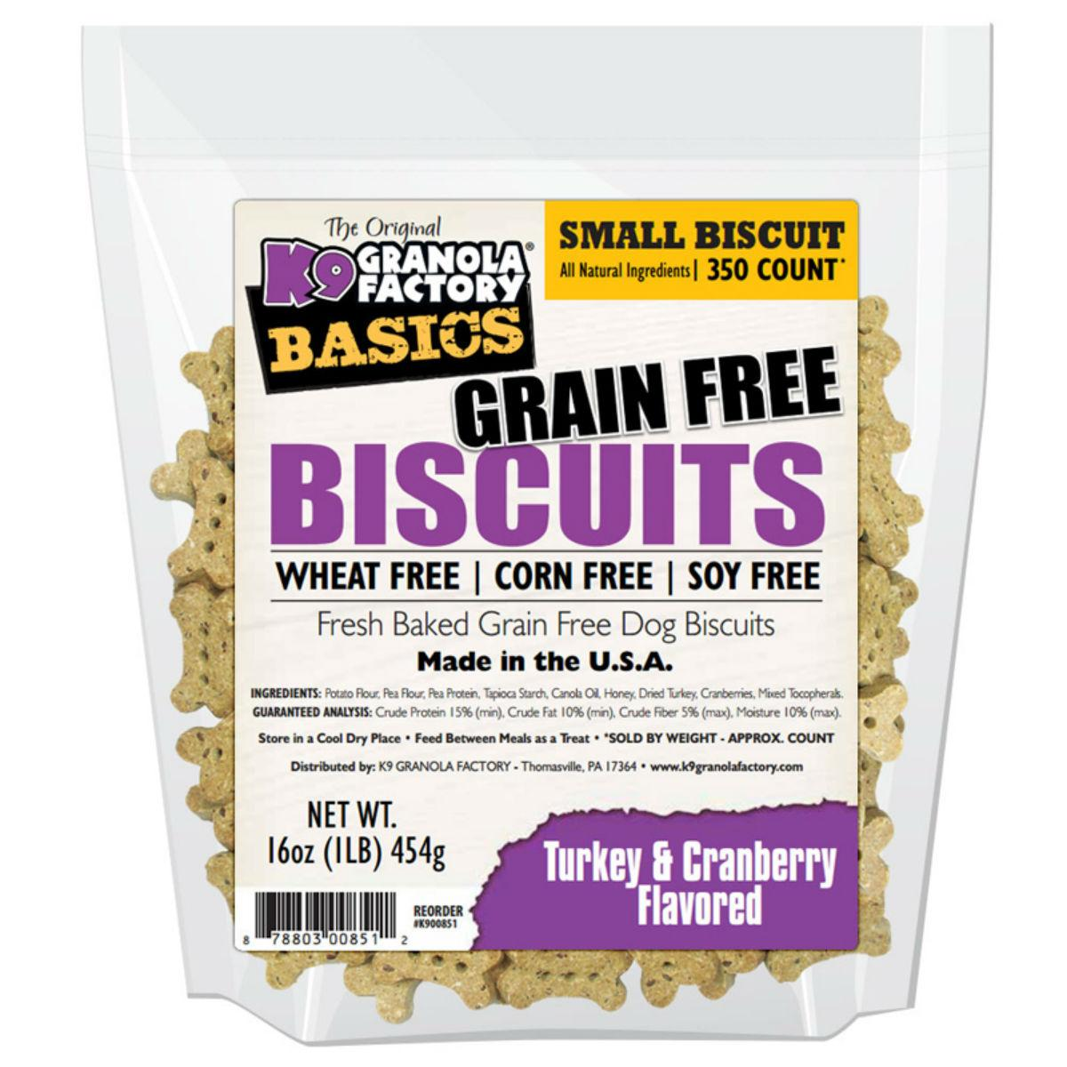 K9 Granola Factory Simply Biscuits Grain Free Dog Treats - Turkey & Cranberry