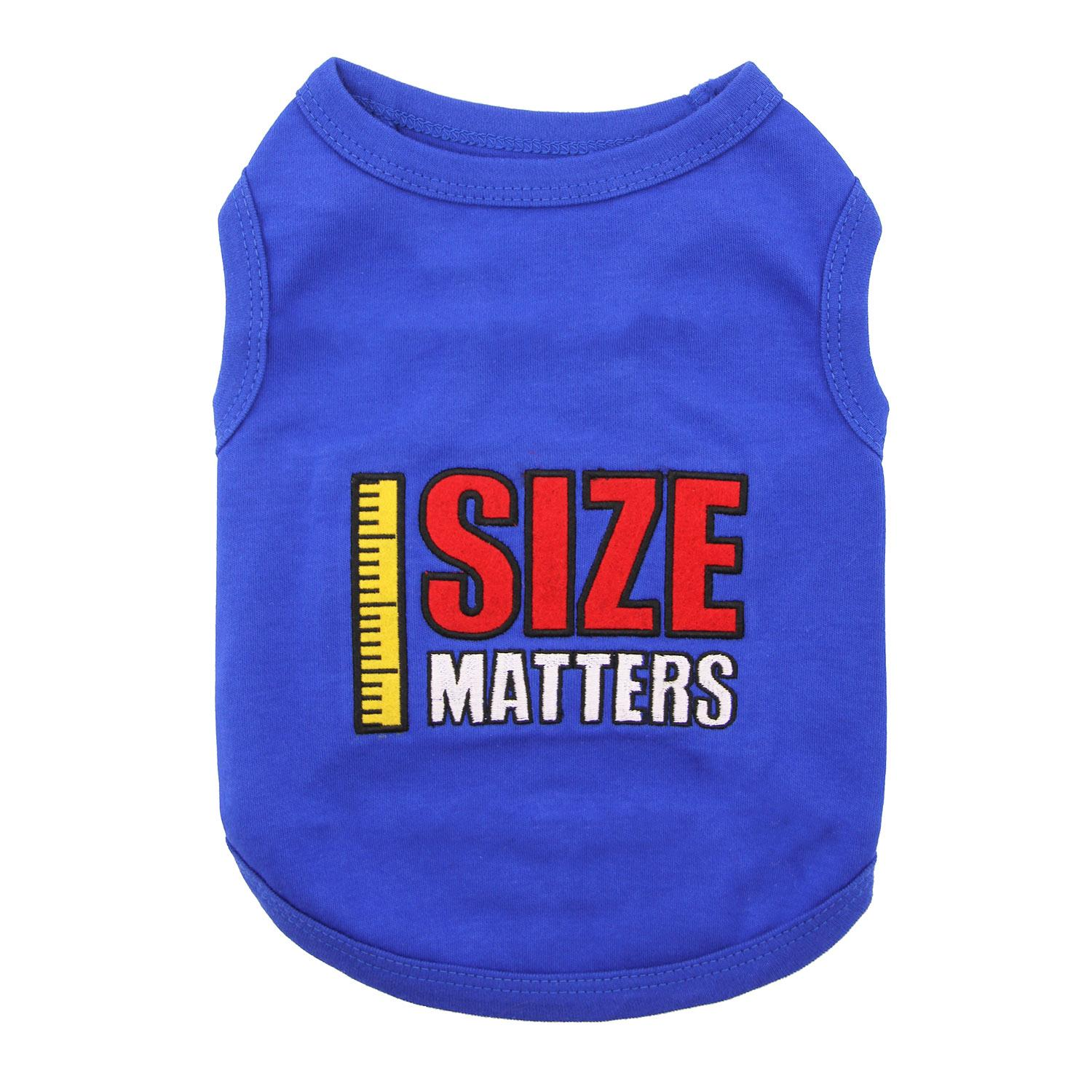 Size Matters Dog Tank by Parisian Pet