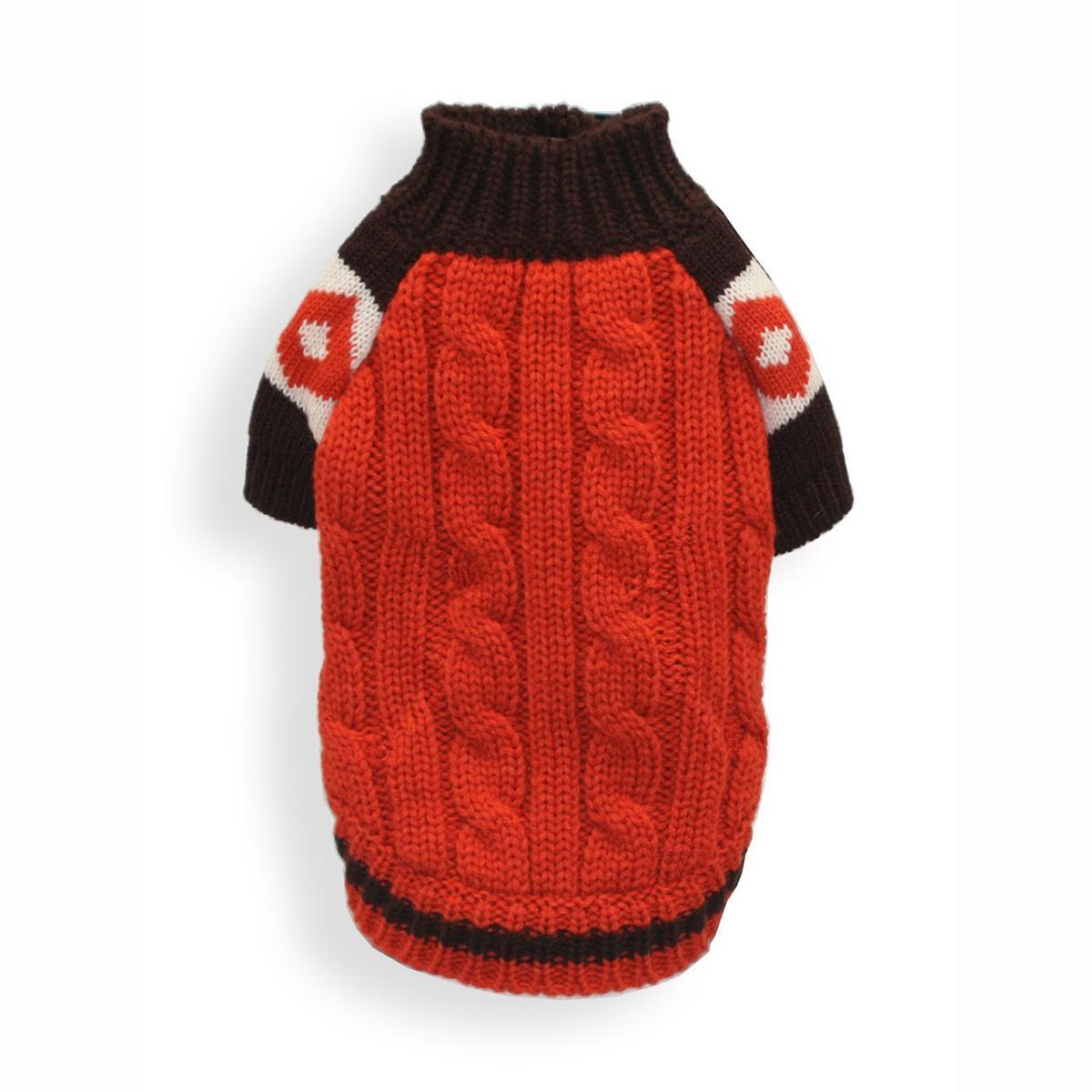 Ski Lodge Dog Sweater by Hip Doggie - Orange