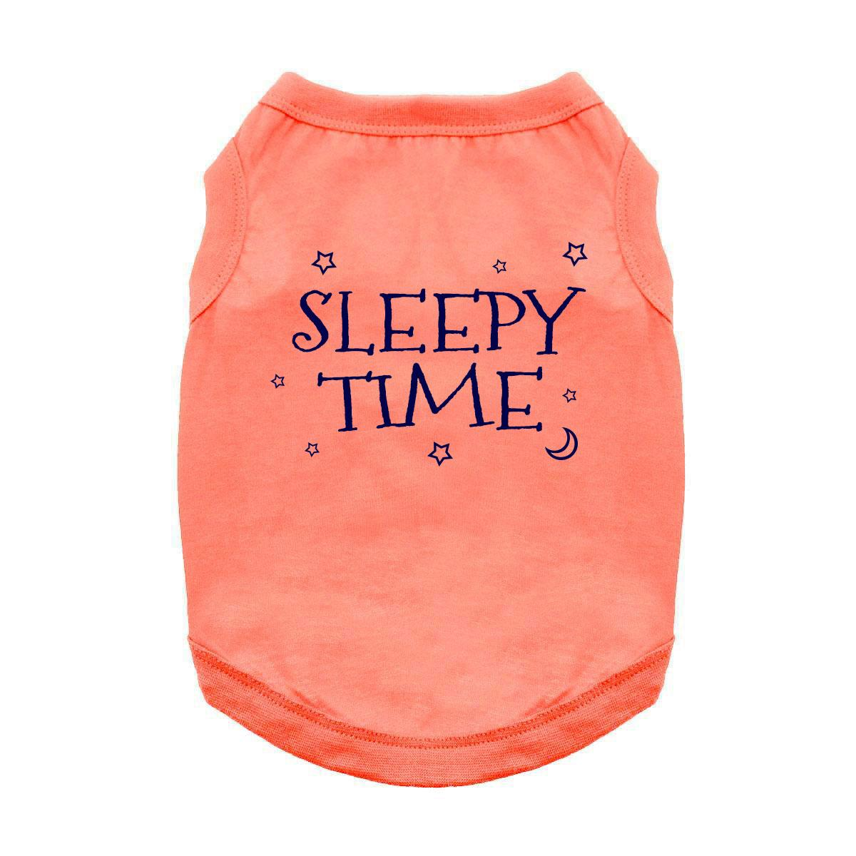 Sleepy Time Dog Shirt - Coral