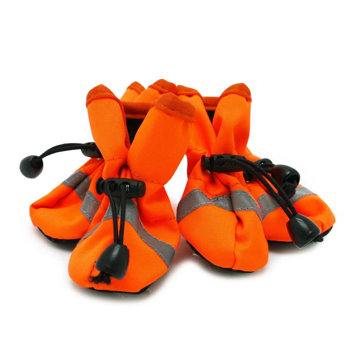 Slip-On Paws V Dog Booties by Dogo - Solid Orange