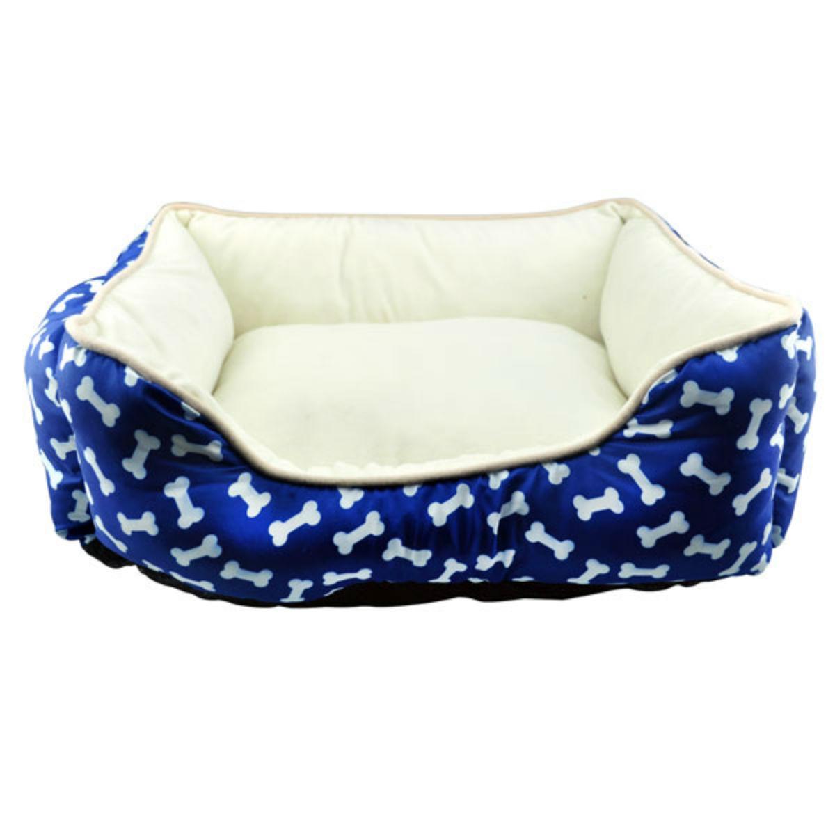 Slumber Pet Cuddler Dog Bed - Blue Bones