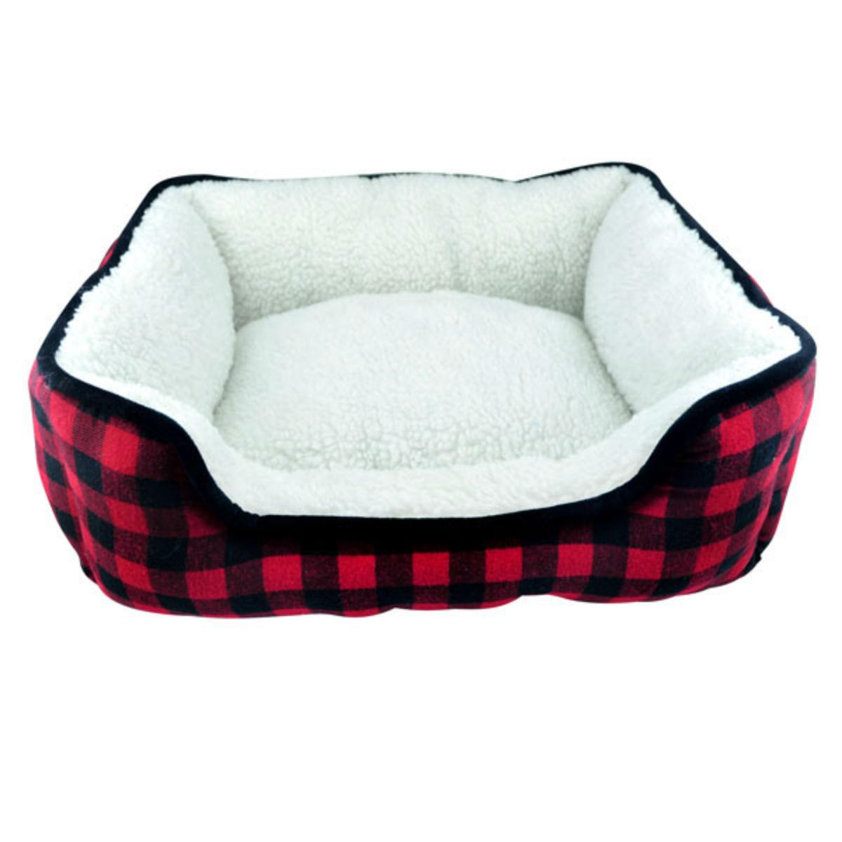 Slumber Pet Cuddler Dog Bed - Buffalo Red Plaid
