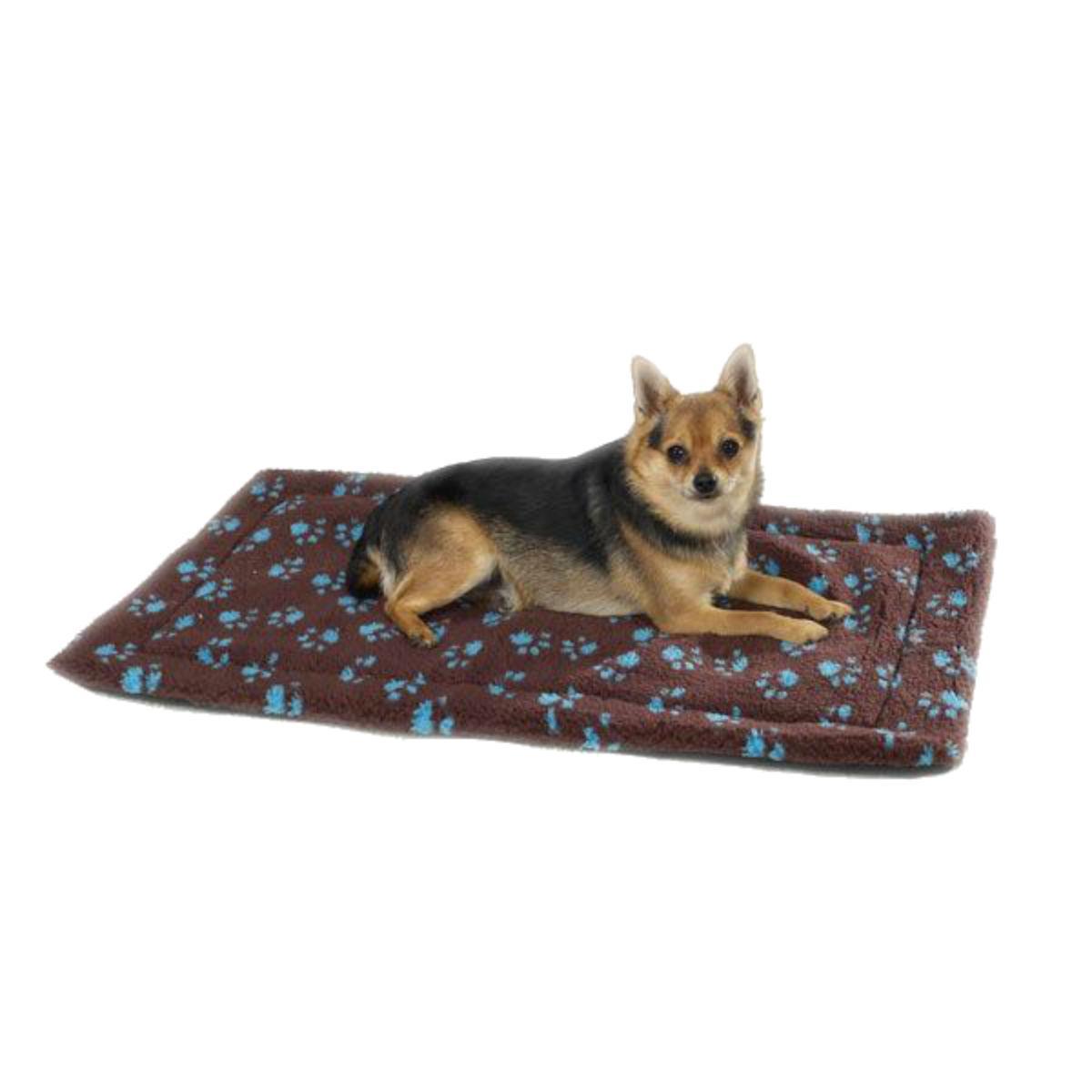 Slumber Pet Paw Print Dog and Cat Crate Mats - Chocolate