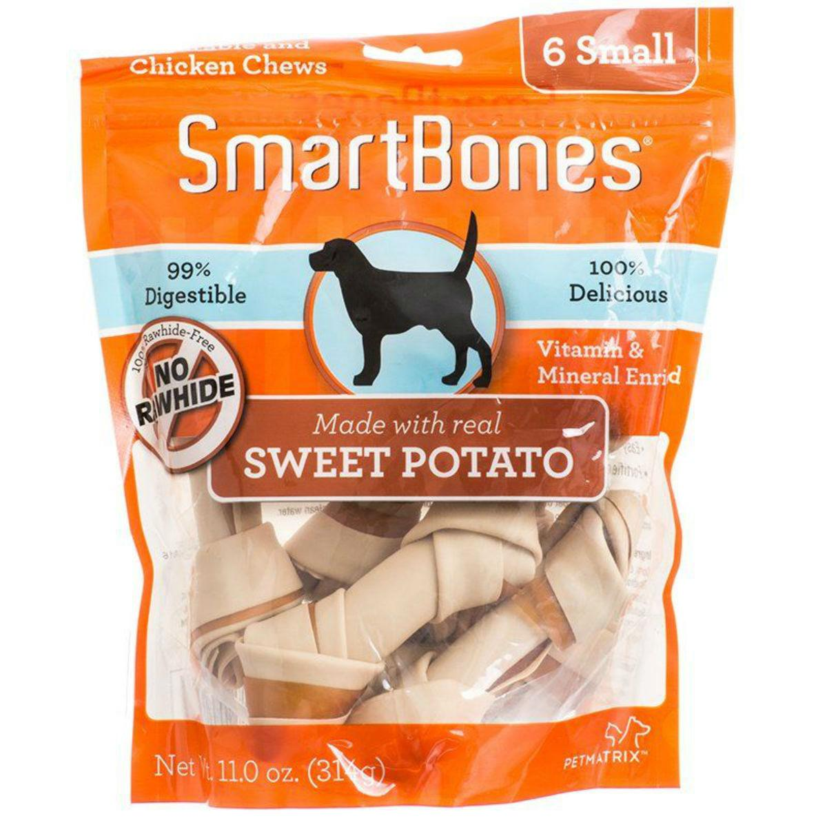 SmartBones Chew Bones Dog Treats - Sweet Potato