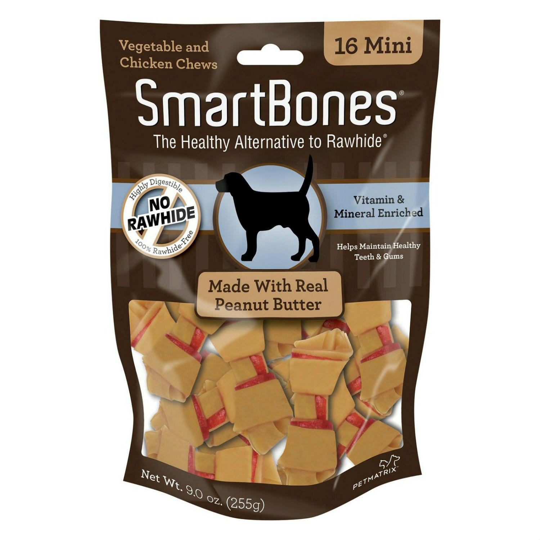 SmartBones Chew Bones Dog Treats - Peanut Butter