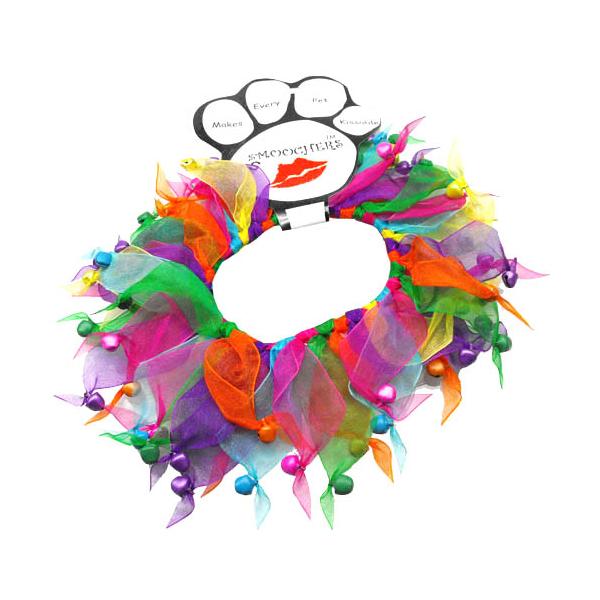 Smoochers Dog and Cat Scrunchie - Confetti Bells