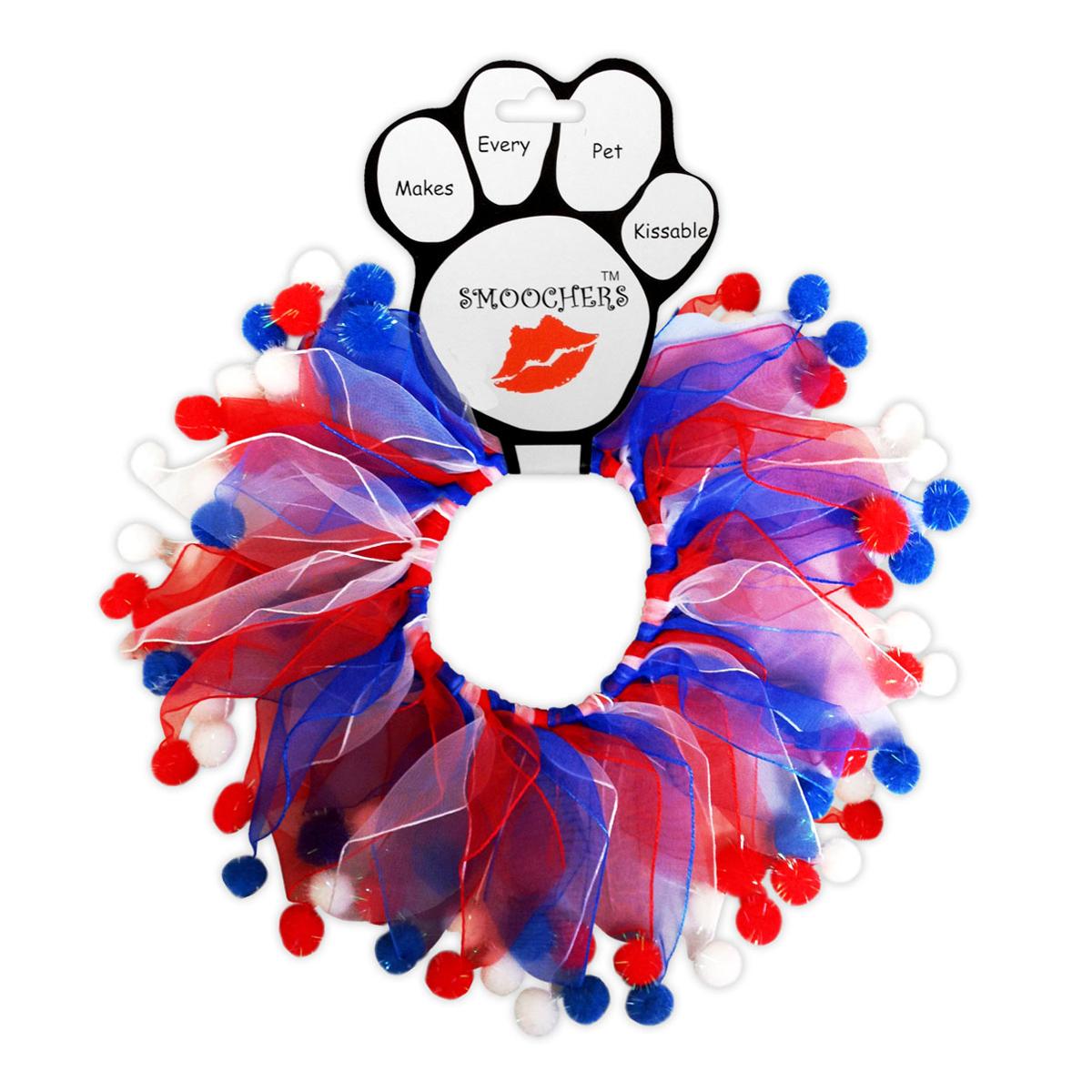 Smoochers Dog and Cat Scrunchie - Patriotic Fuzzy Wuzzy