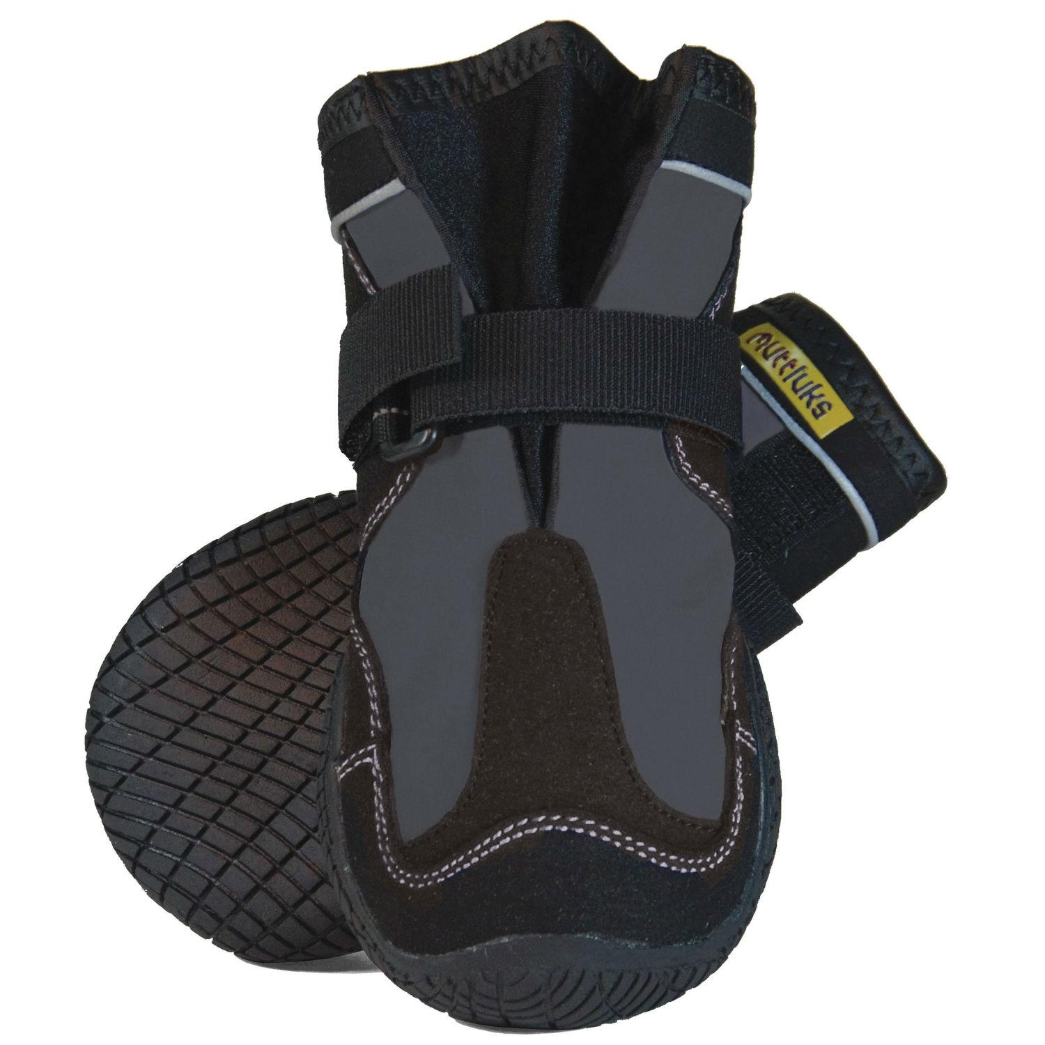 Muttluks Snow Mushers Dog Boots - Gray with Black Trim - Set of Two