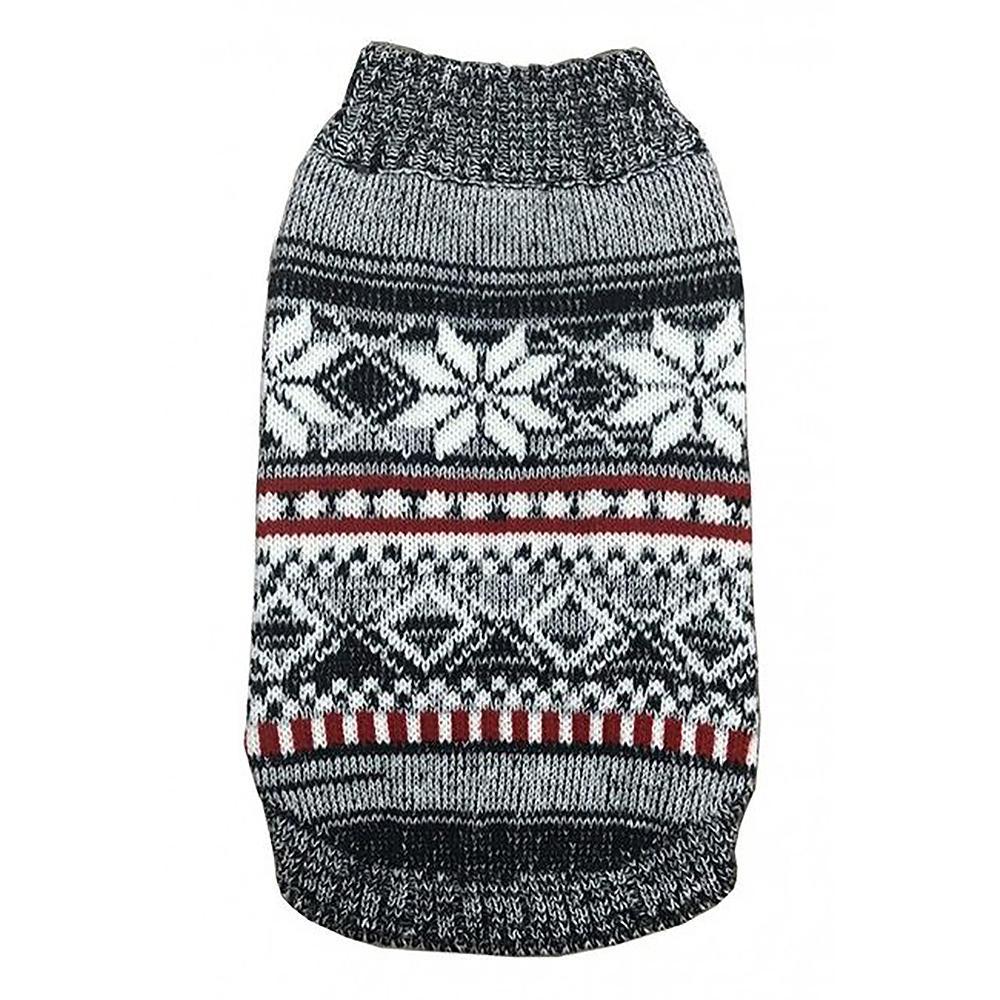 Snow Sky Dog Sweater By Hip Doggie - Grey