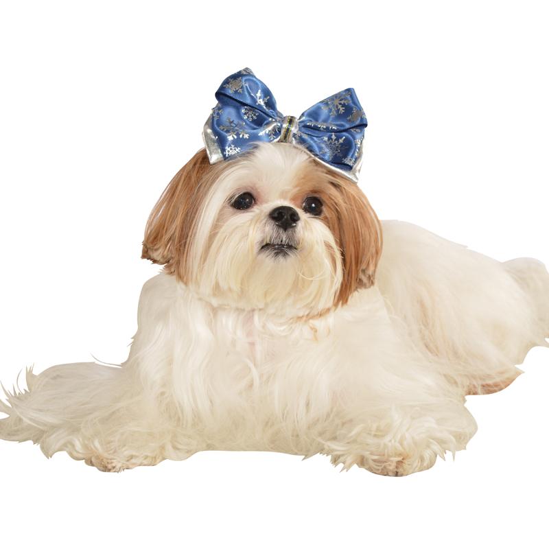Snowflake Dog Hair Bow