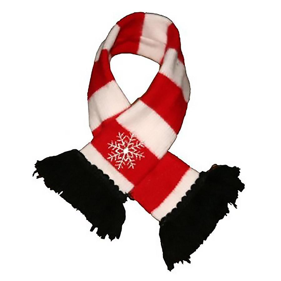 Snowflake Dog Scarf by Hip Doggie - Red & White