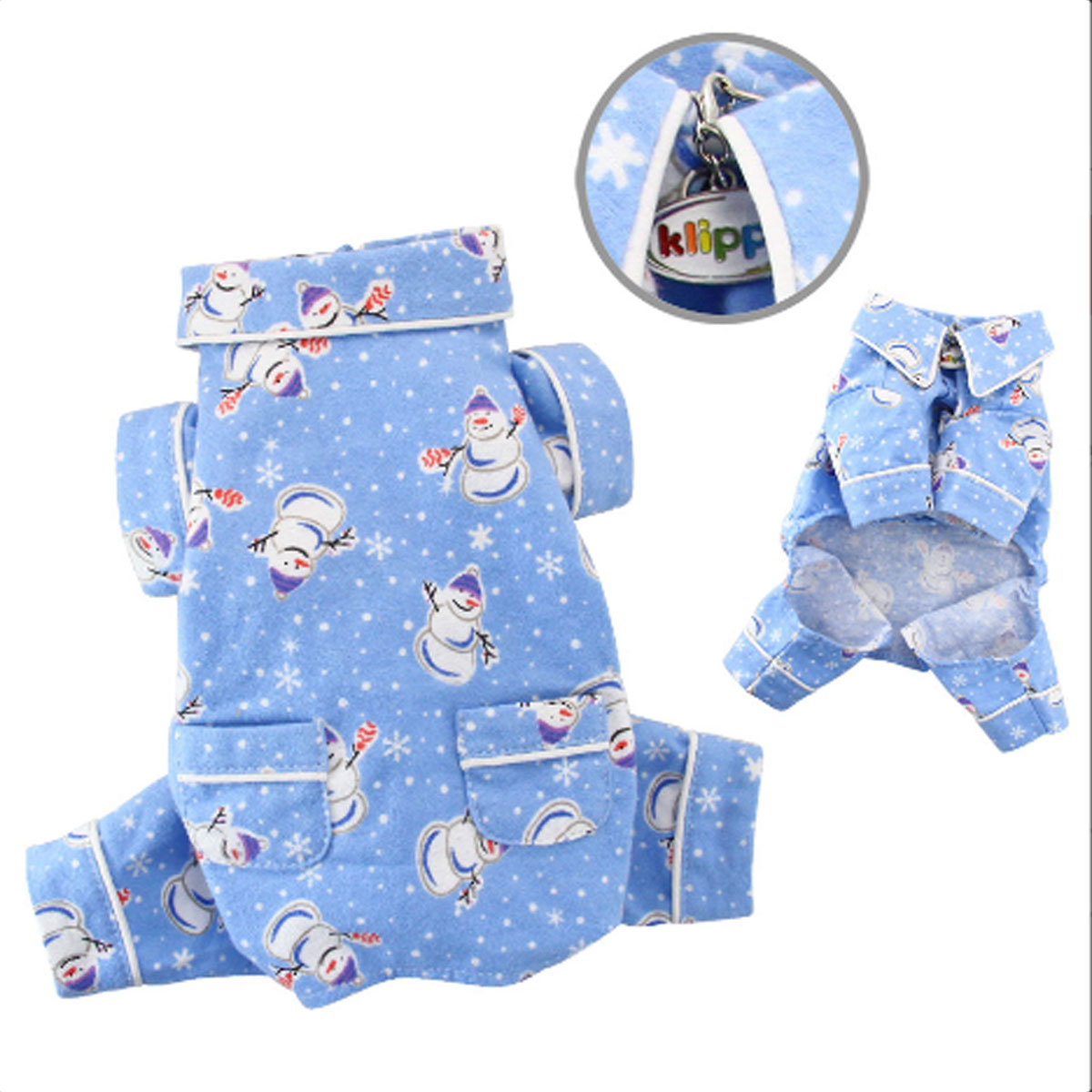 Snowmen and Snowflakes Flannel Dog Pajamas by Klippo with Same Day ...