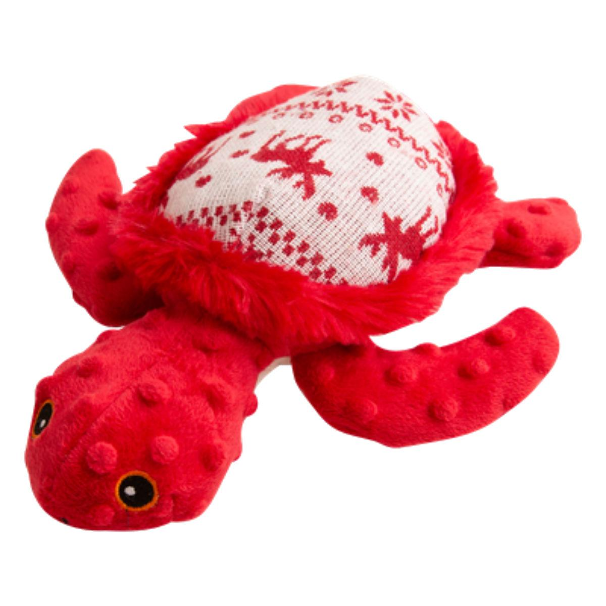 Snugarooz Merry the Turtle Dog Toy - Red