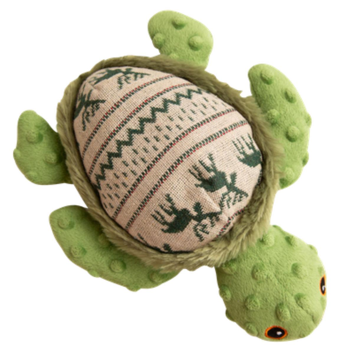 Snugarooz Holly the Turtle Dog Toy - Green