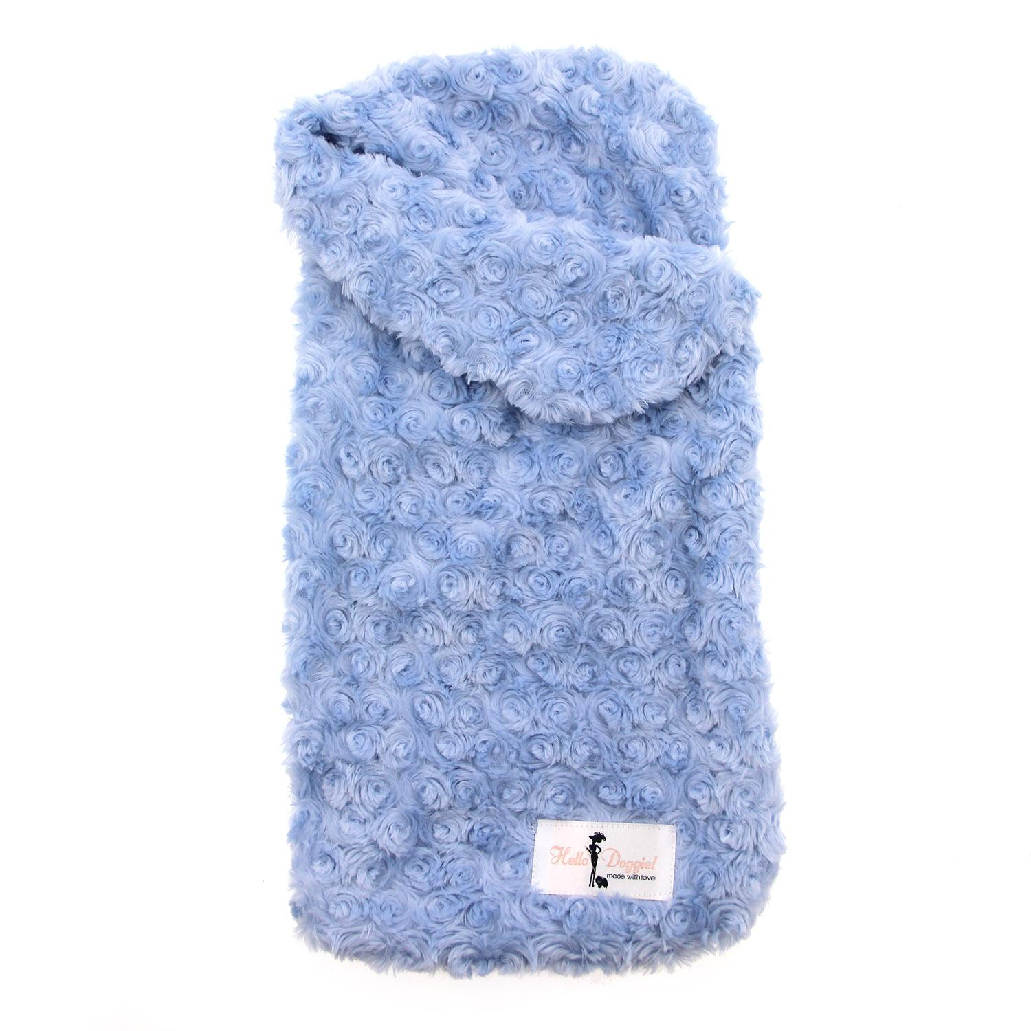 Snuggle Pup Sleeping Bag Dog Bed by Hello Doggie - Rosebud Blue