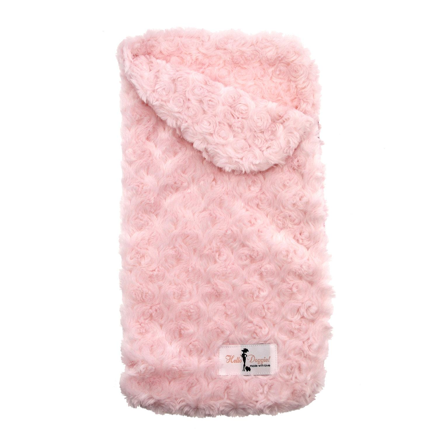 Snuggle Pup Sleeping Bag Dog Bed by Hello Doggie - Rosebud Pink