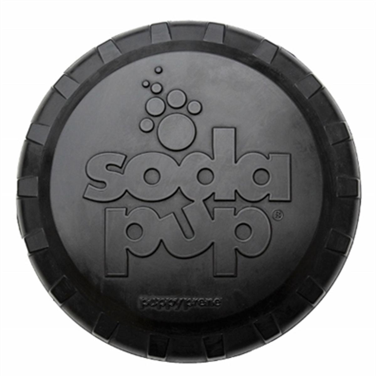 SodaPup Bottle Top Flyer Dog Toy - Magnum Black