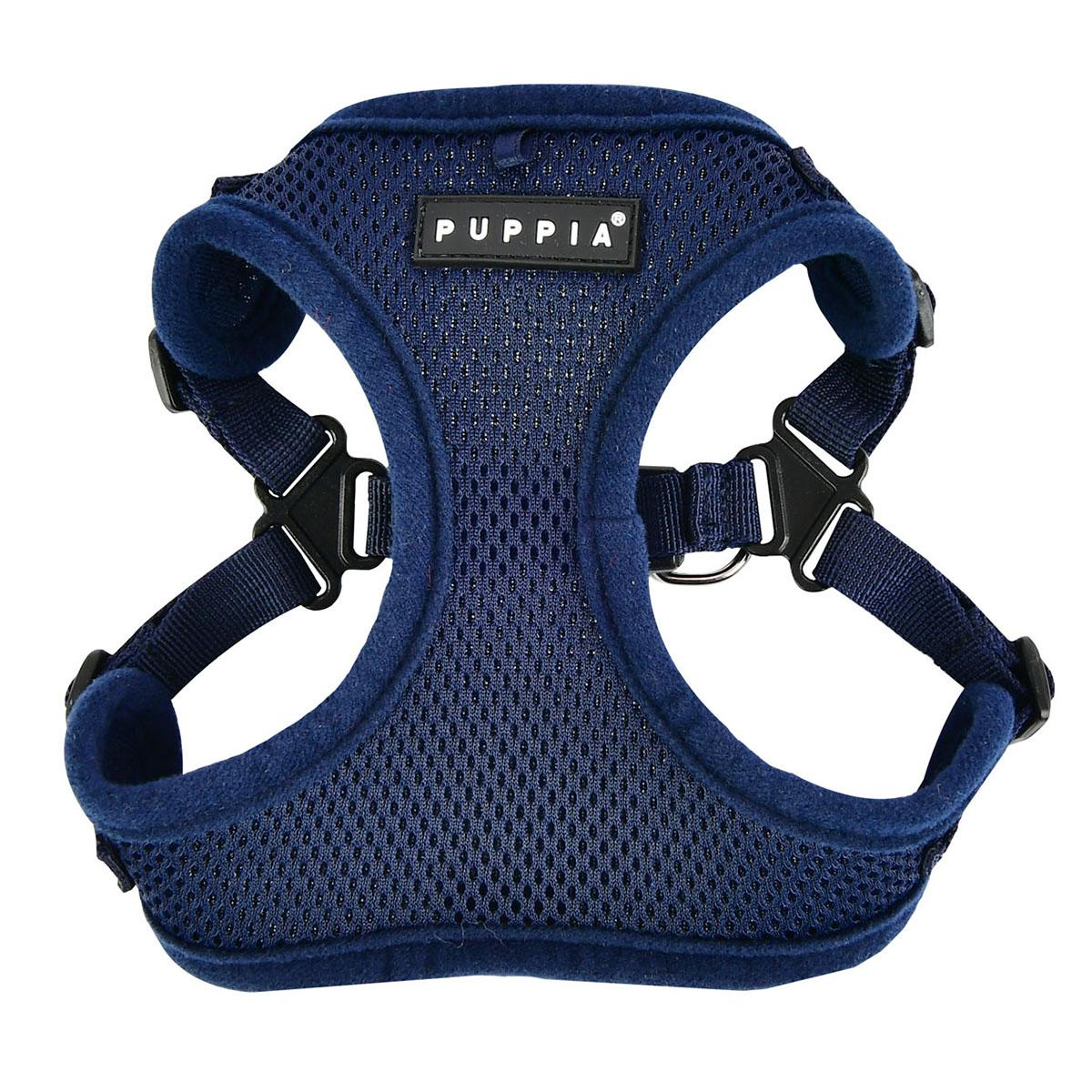 Soft Adjustable Step-In Dog Harness by Puppia - Navy