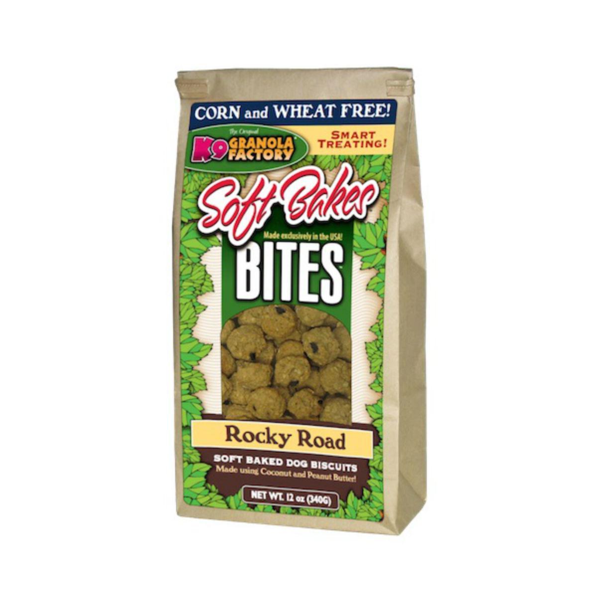 K9 Granola Factory Soft Bakes Bites Dog Treat - Rocky Road w/ Coconut & Peanut Butter Granola
