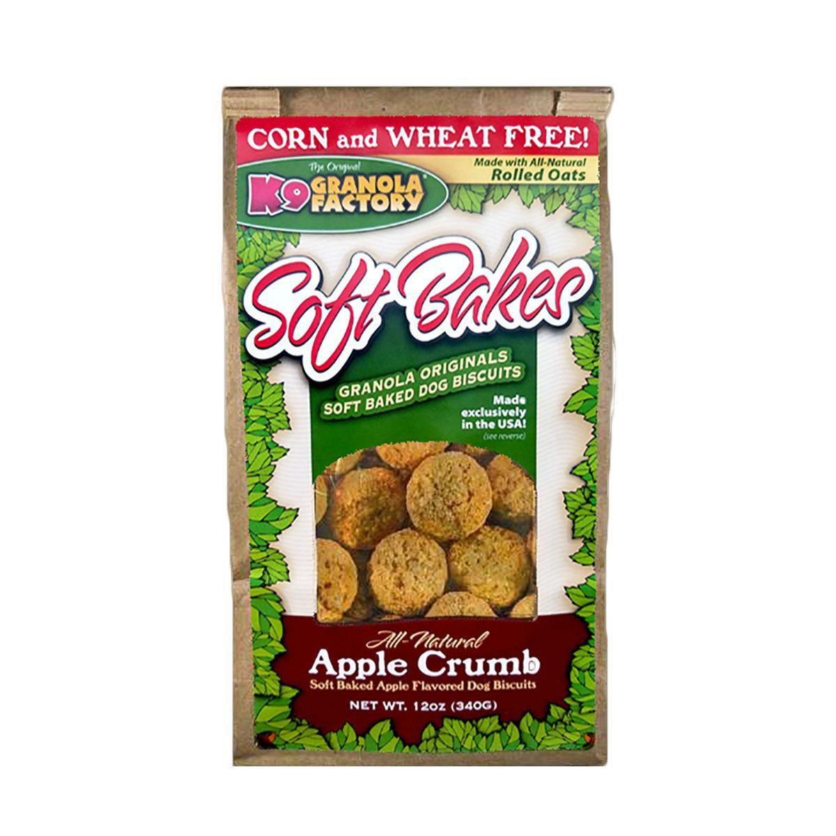 K9 Granola Factory Soft Bakes Dog Treat - Apple Crumb