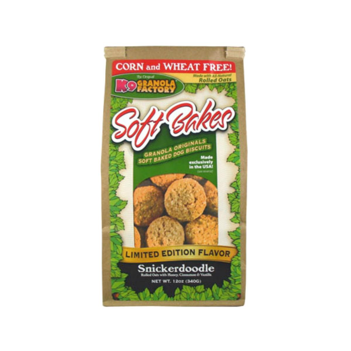 K9 Granola Factory Soft Bakes Dog Treat - Limited Edition Snickerdoodle