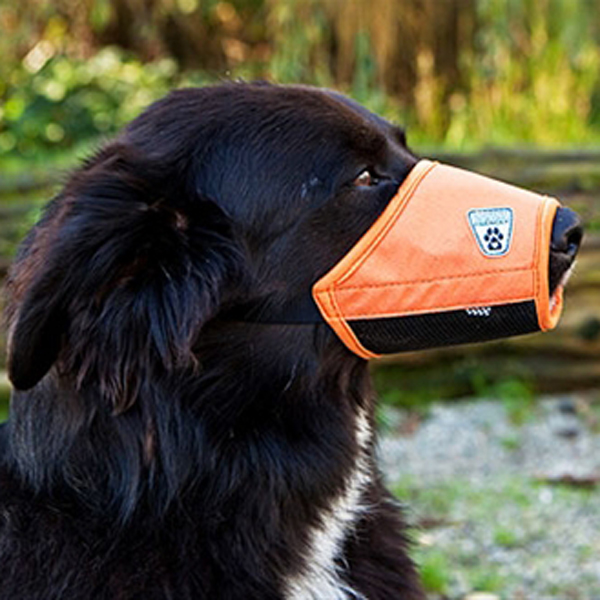 Soft Fit Dog Muzzle by Canine Friendly - Orange