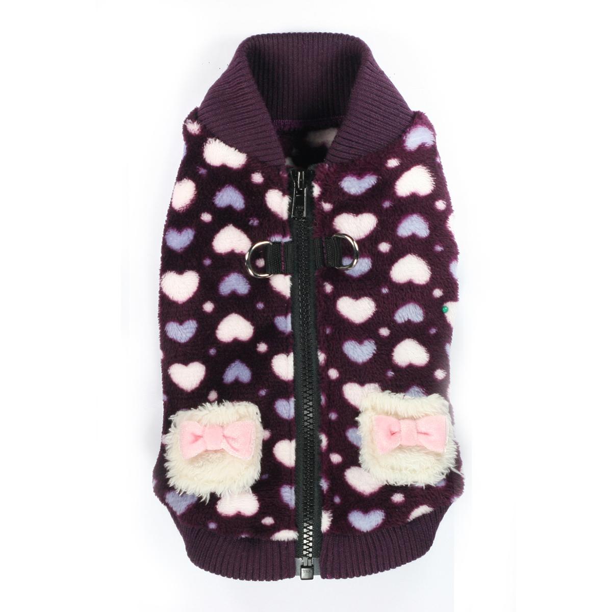 Soft Purple Heart Dog Vest by Hip Doggie