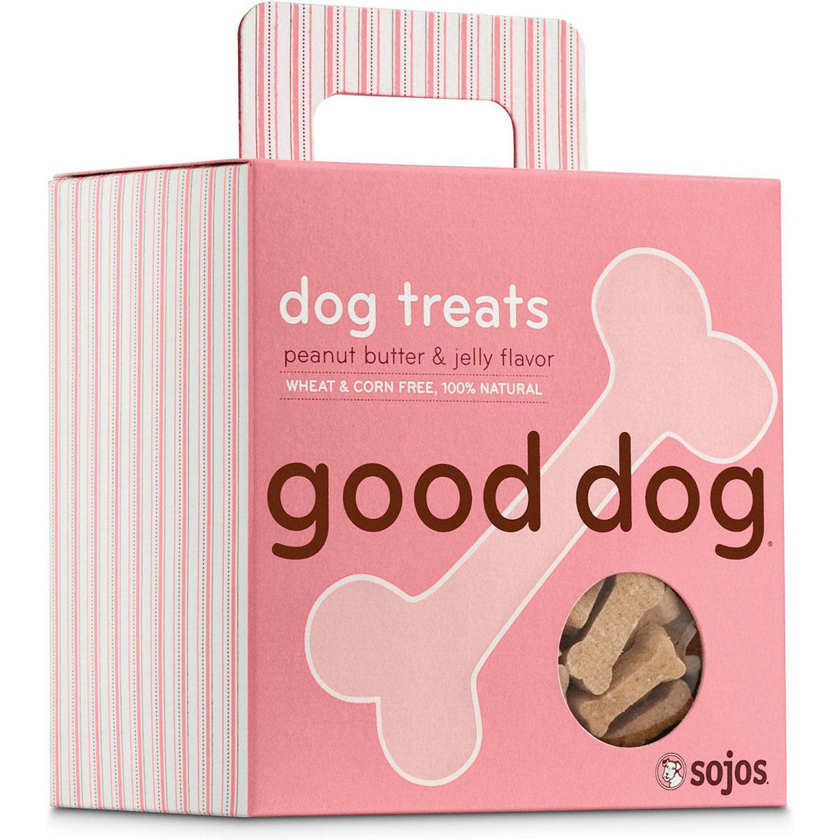 Sojos Good Dog Peanut Butter & Jelly Dog Treats