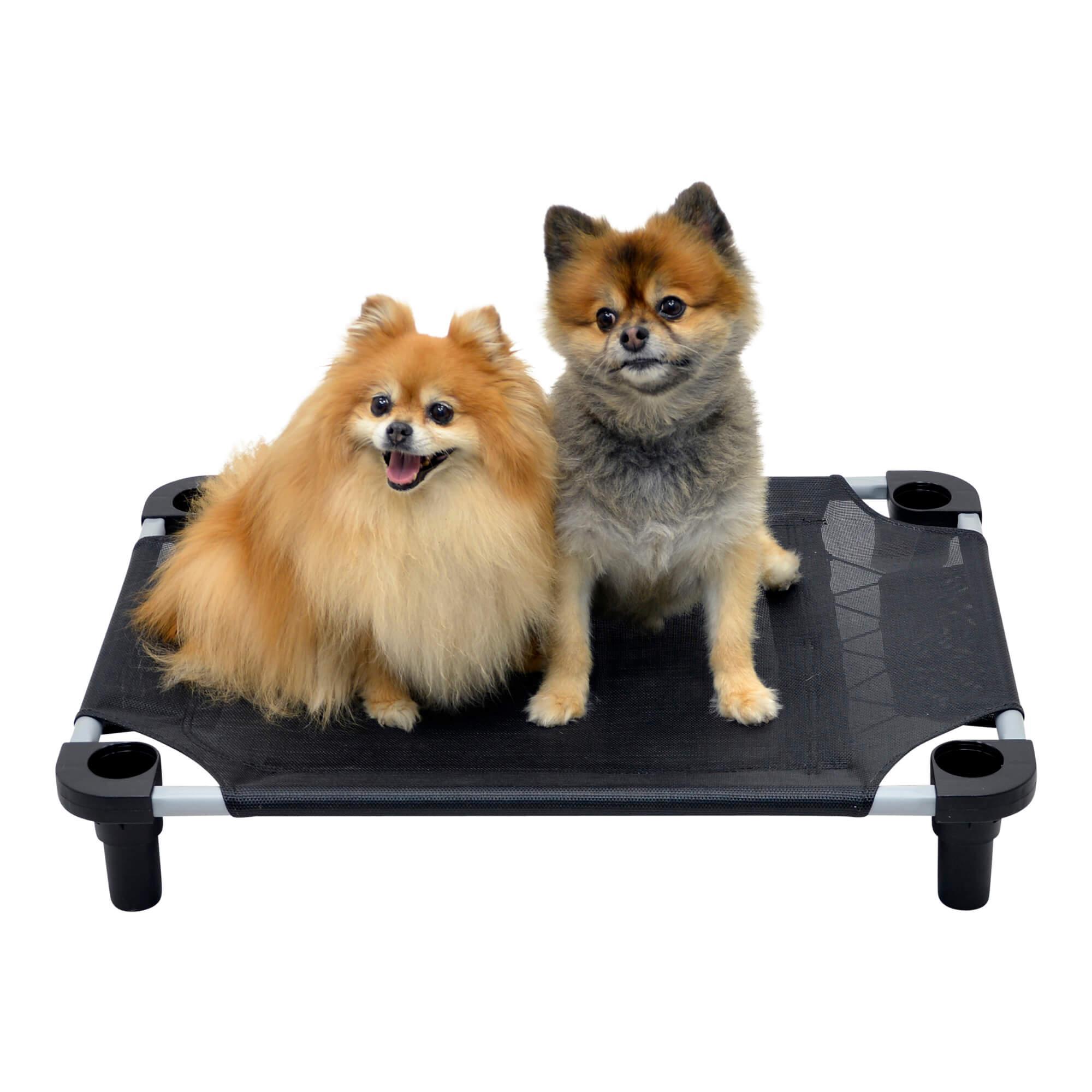 Solid Color Premium Weave Dog Cot - Black