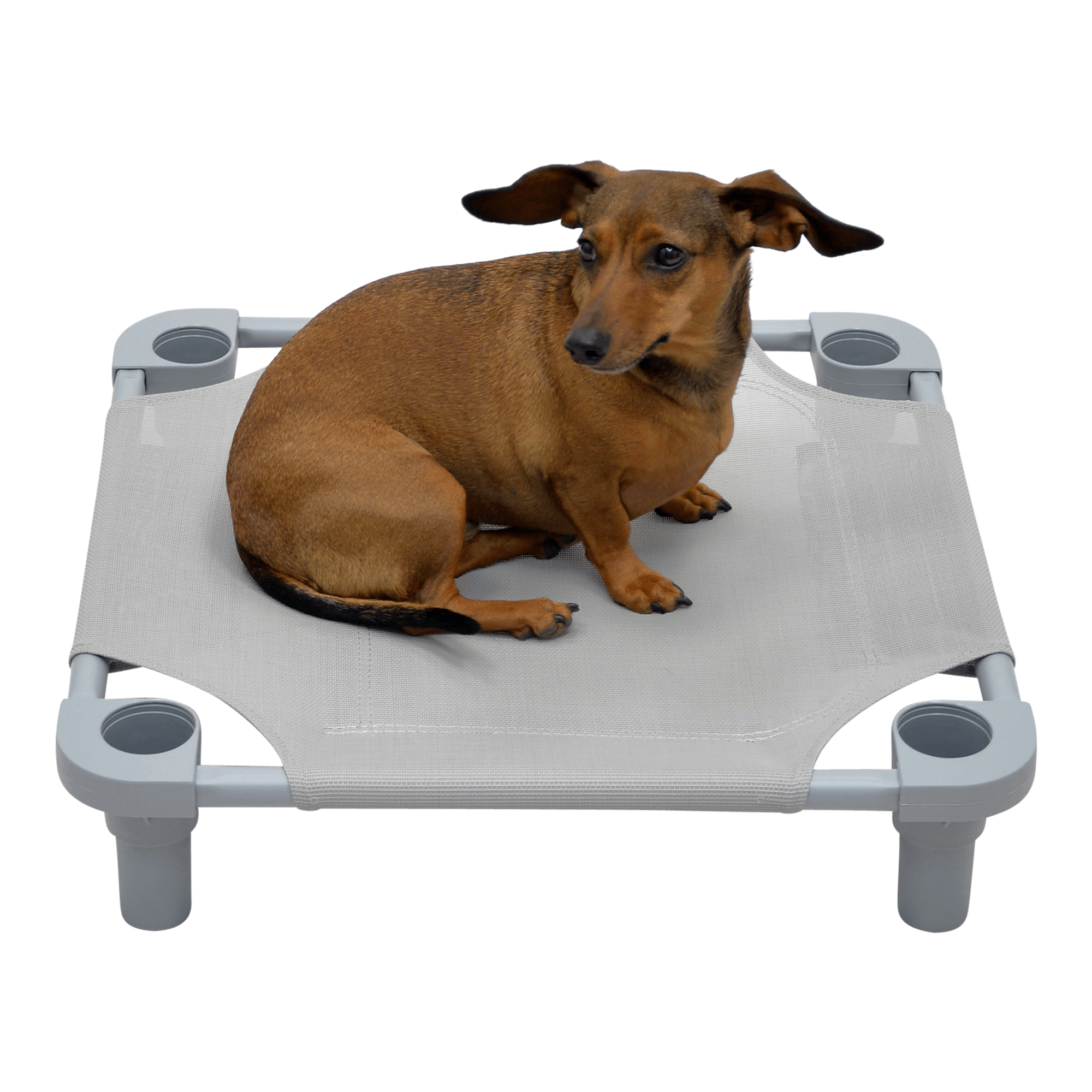 Solid Color Premium Weave Dog Cot - Gray