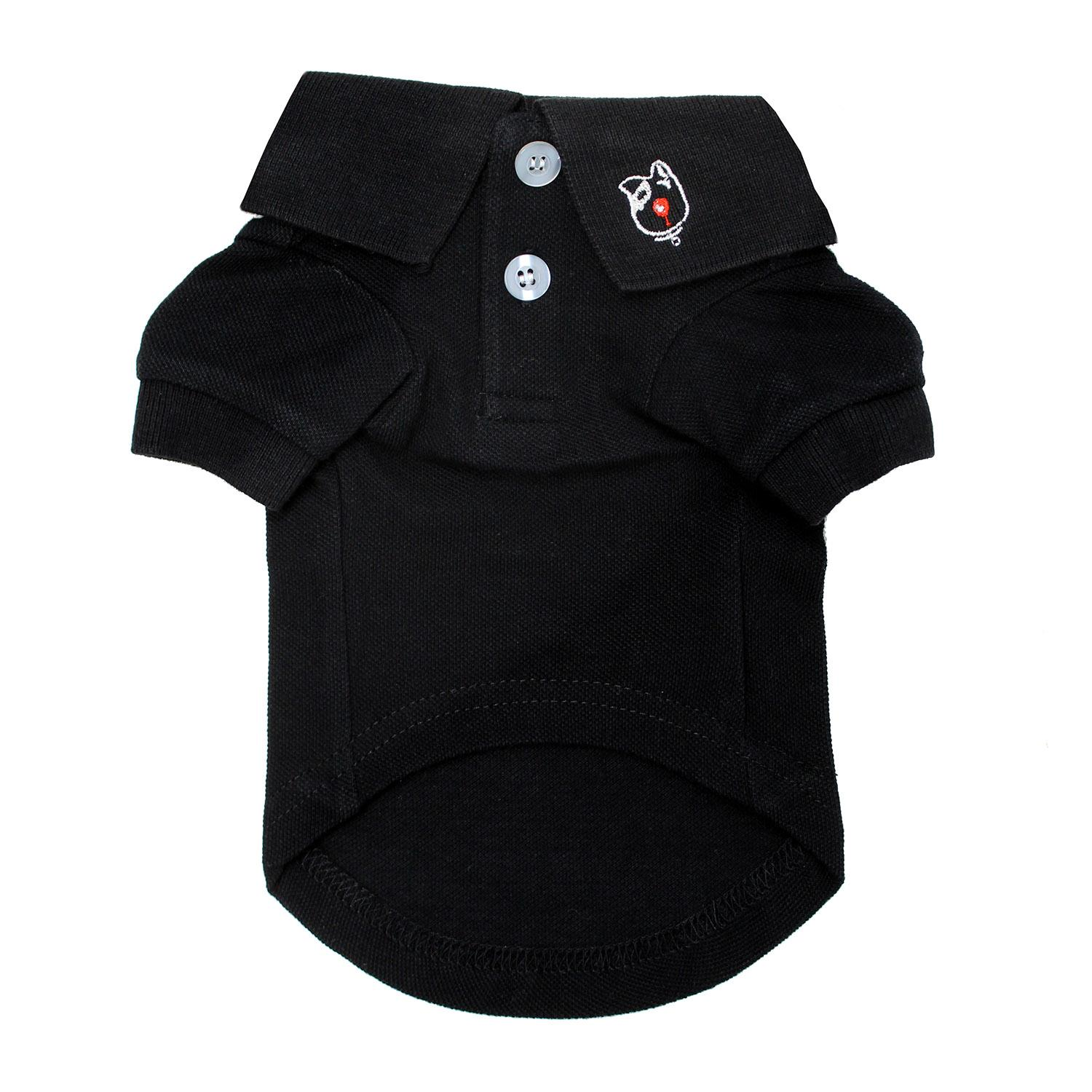 Solid Dog Polo by Doggie Design - Jet Black