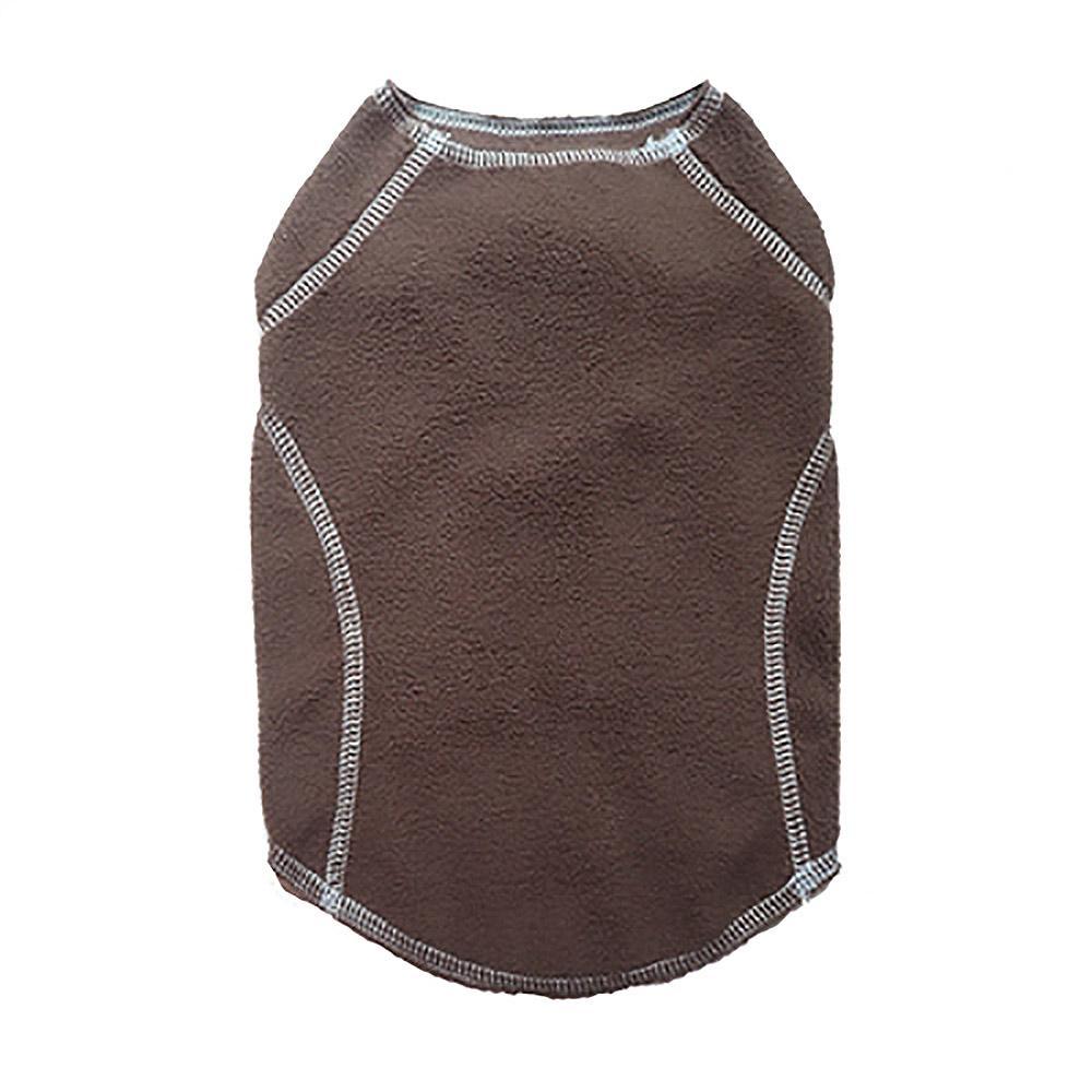 Cloak & Dawggie Stretch Fleece Dog Sweater - Brown