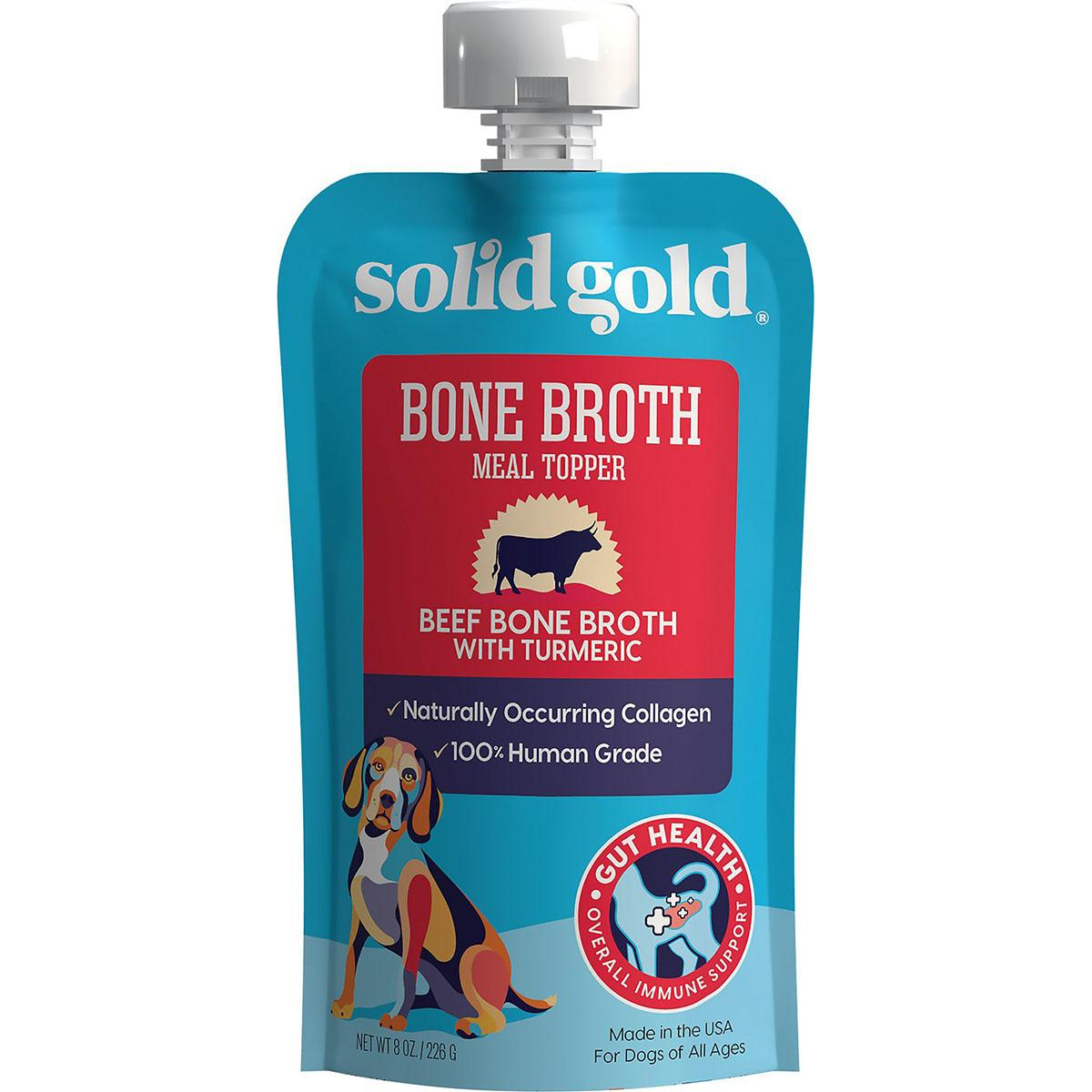 Solid Gold Beef Bone Broth with Turmeric Dog Food Topper