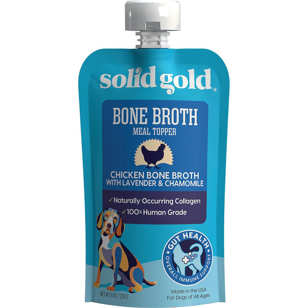 Solid Gold Chicken Bone Broth with Lavender & Chamomile Dog Food Topper