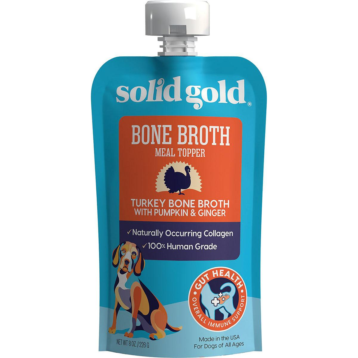 Solid Gold Turkey Bone Broth with Pumpkin & Ginger Dog Food Topper