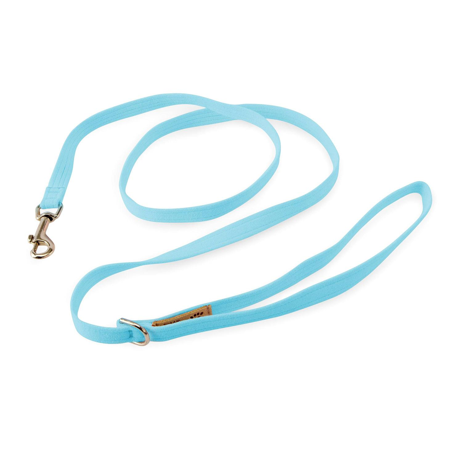 Solid Ultrasuede Dog Leash by Susan Lanci - Tiffi Blue