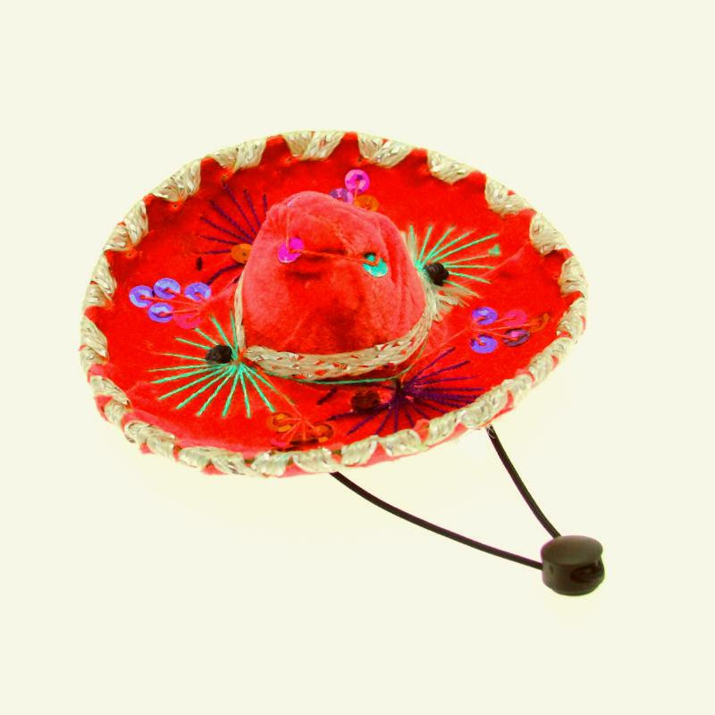Sombrero Dog Hat - Red