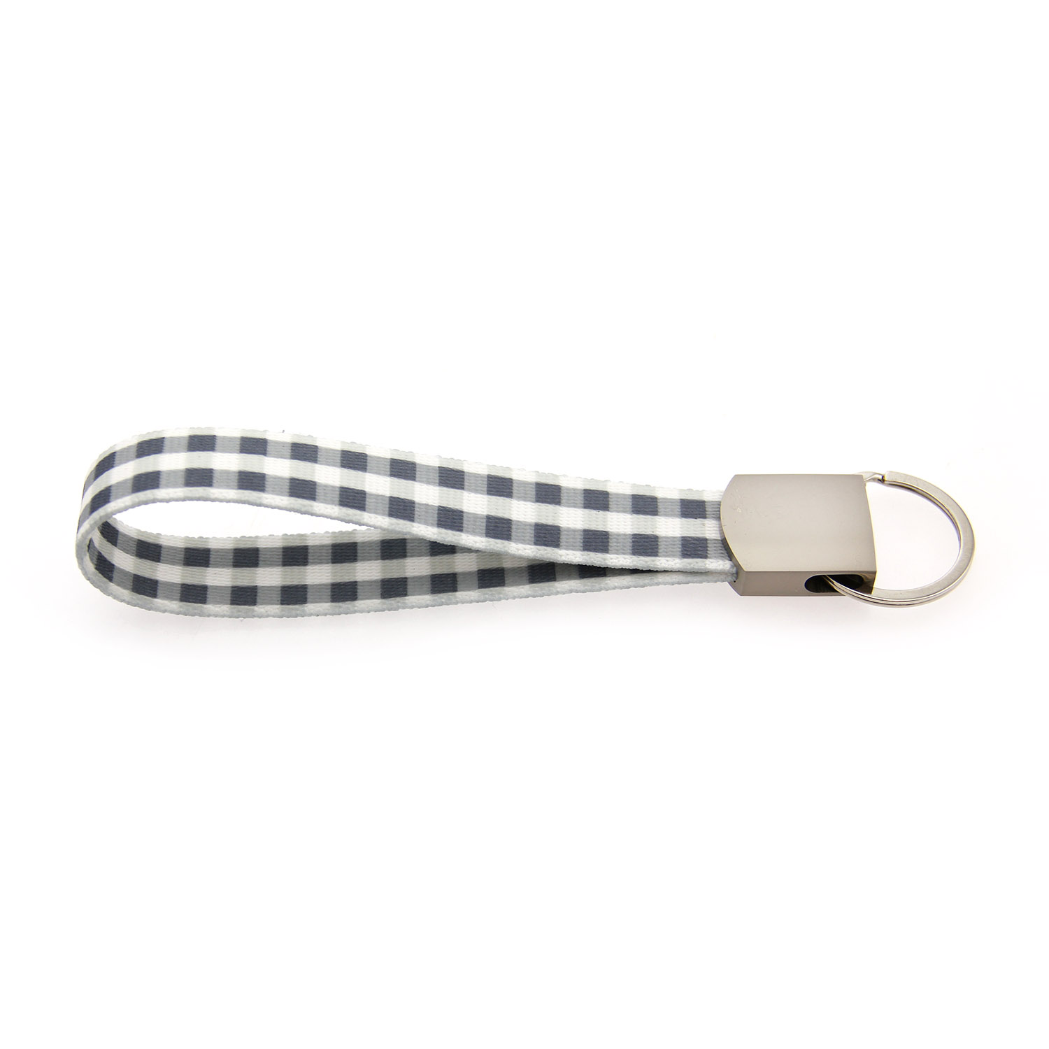 Southern Dawg Gingham Keychain - Gray