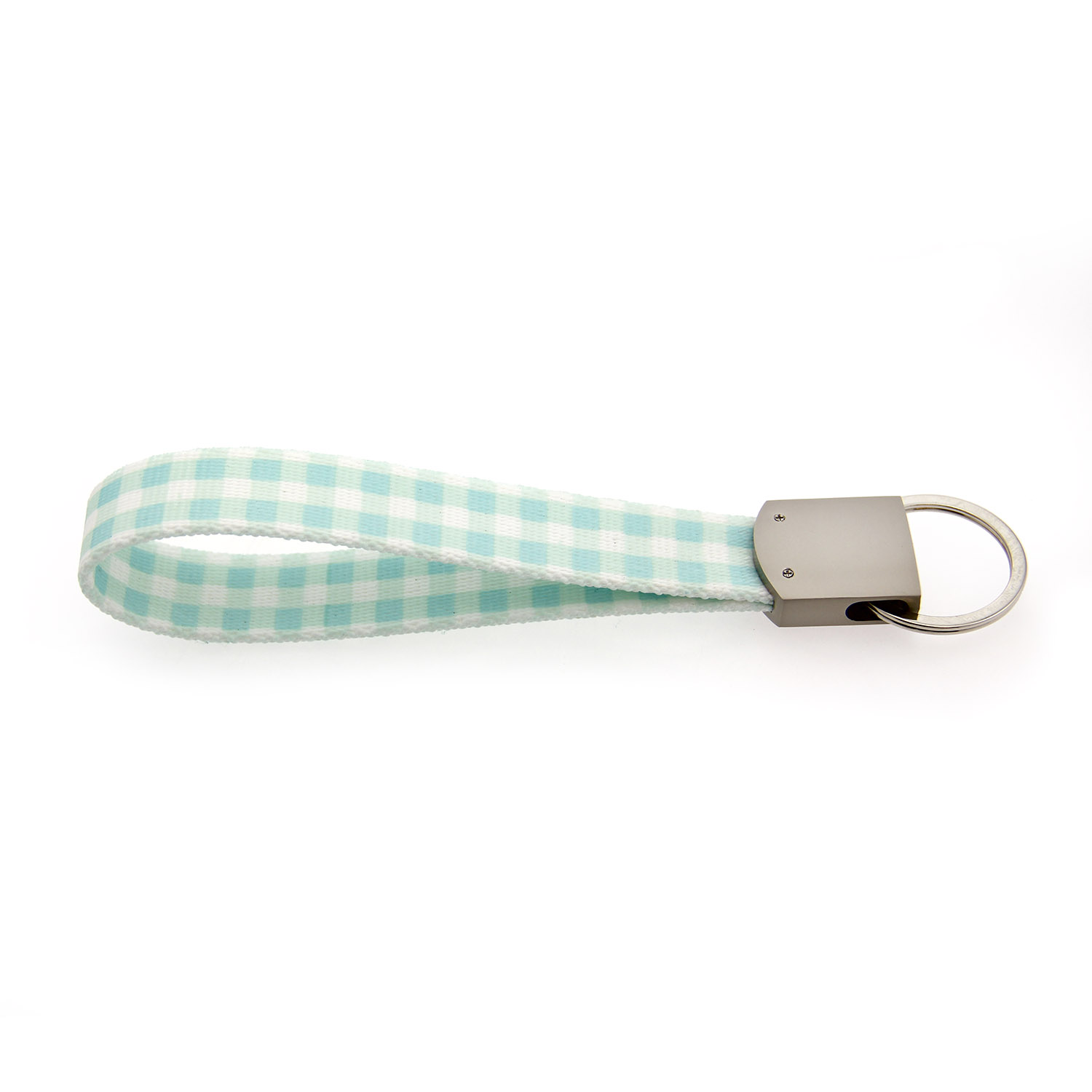 Southern Dawg Gingham Keychain - Mint