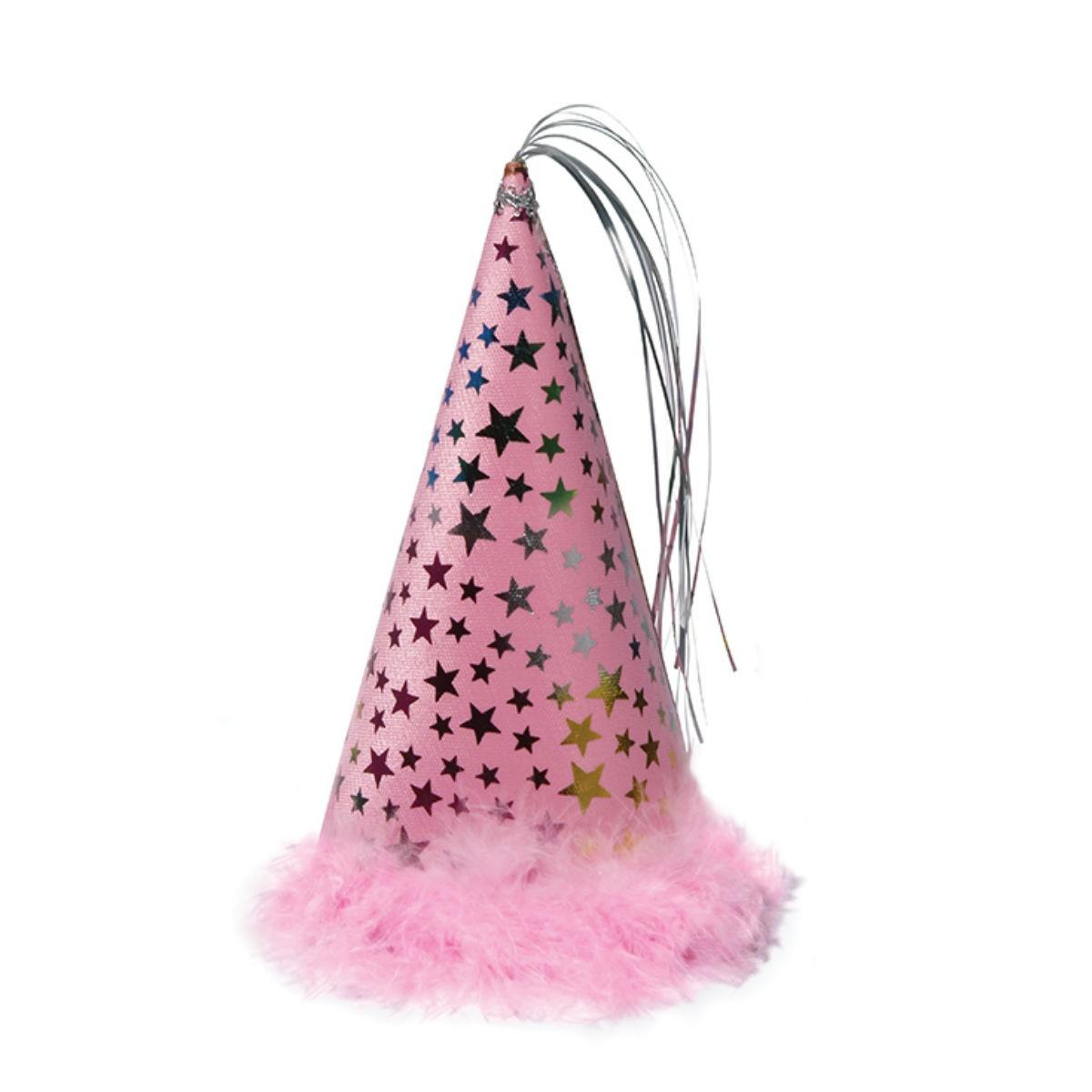 Charming Pet Spangled Dog Party Hat - Pink